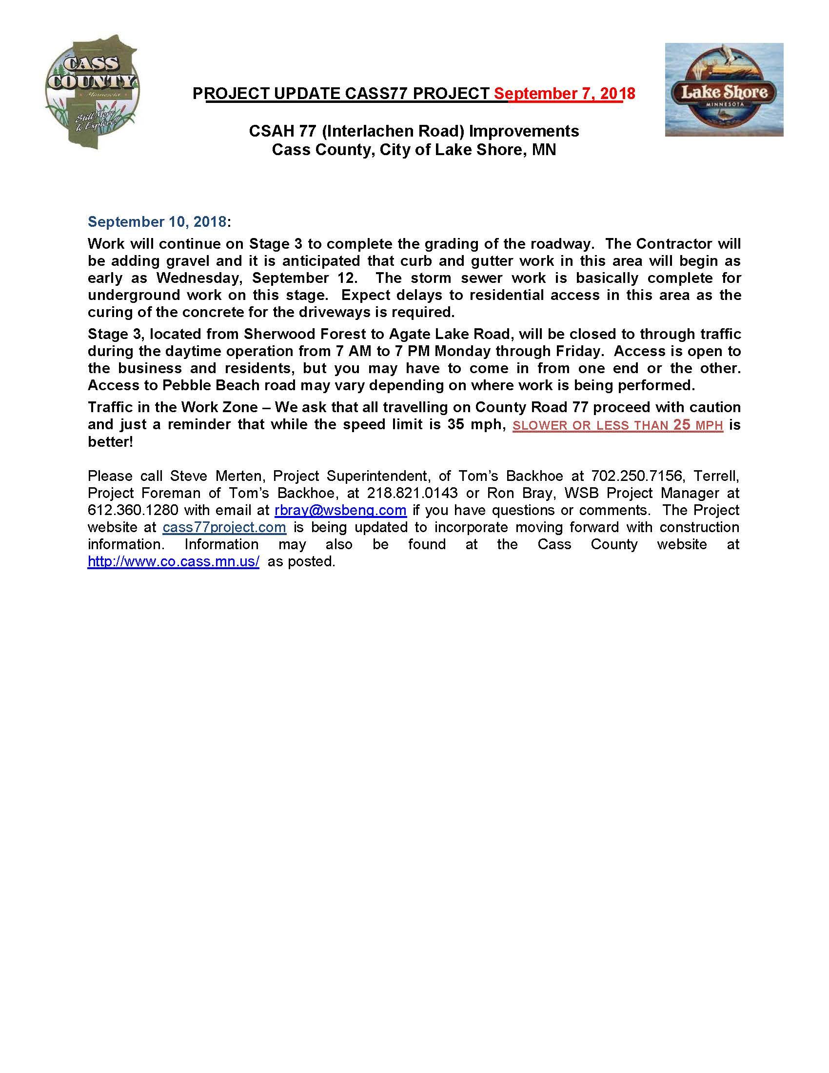 Cass County CSAH 77 Project update September 7th 2018.jpg