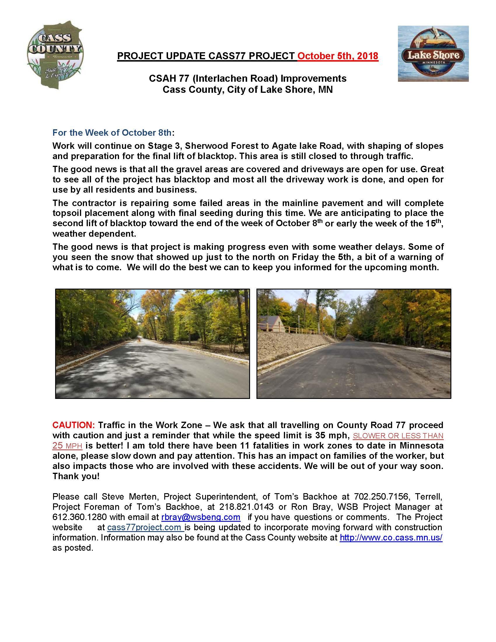 Cass County CSAH 77 Project update October 5th 2018.jpg