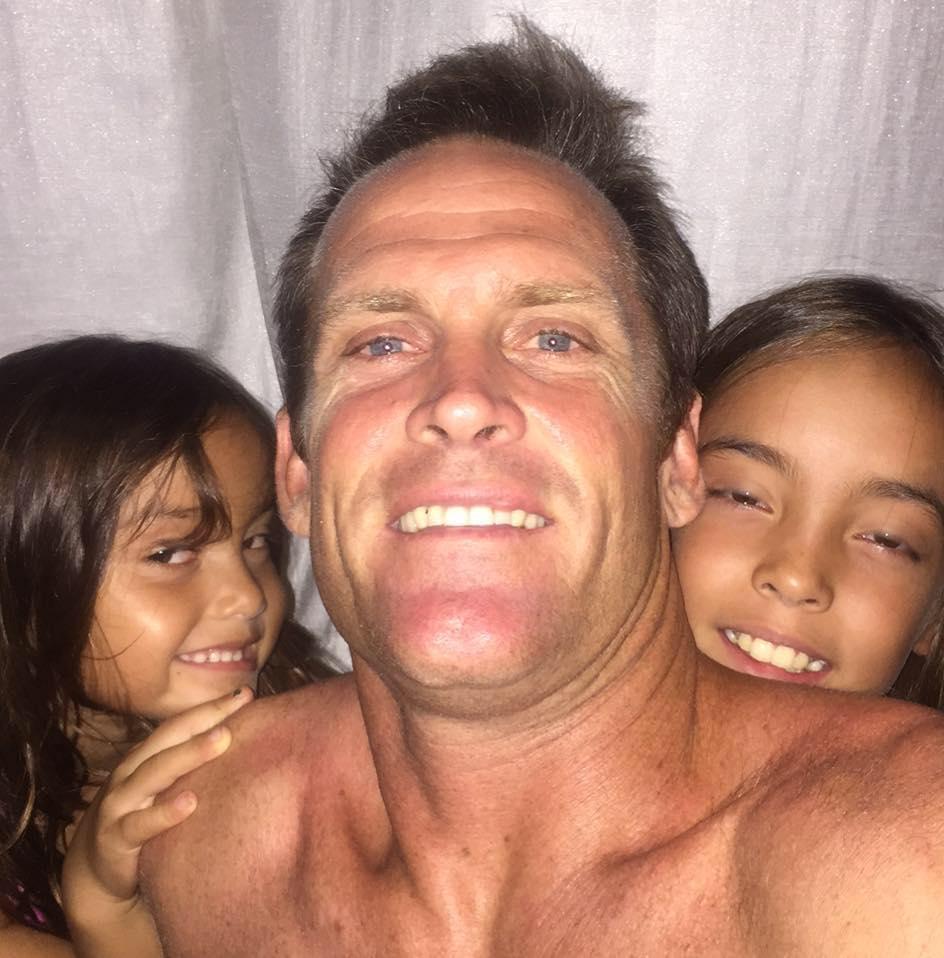Heuer com as filhas