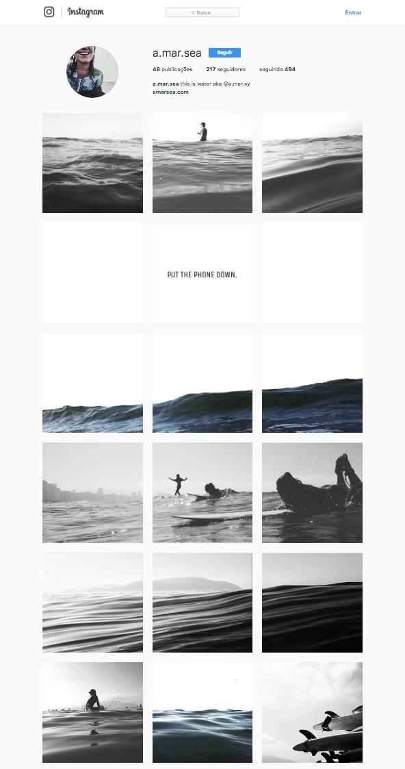 Instagram de fotógrafa/designer não é para amadores...@a.mar.sea