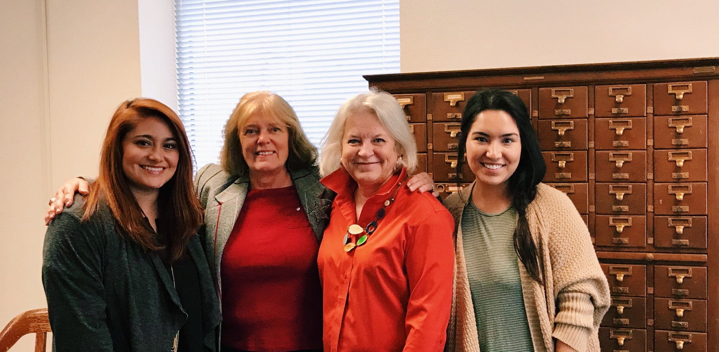 Left to right: Aysa Province, Toni Turner, Karen Knox, Mayra Téllez