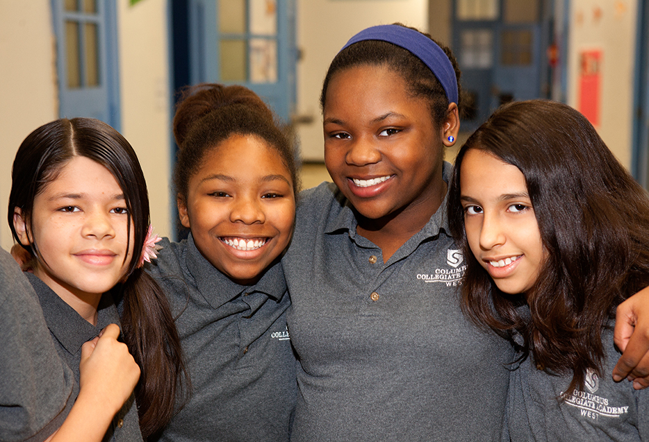 Best practices - female students in hallway