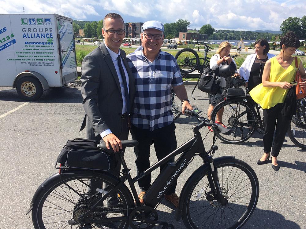 Éric Filion Président, Hydro Québec Distribution et  Jean-Marc Blais VP Exécutif de Groupe Alliance et Directeur Général Vélo-Transit