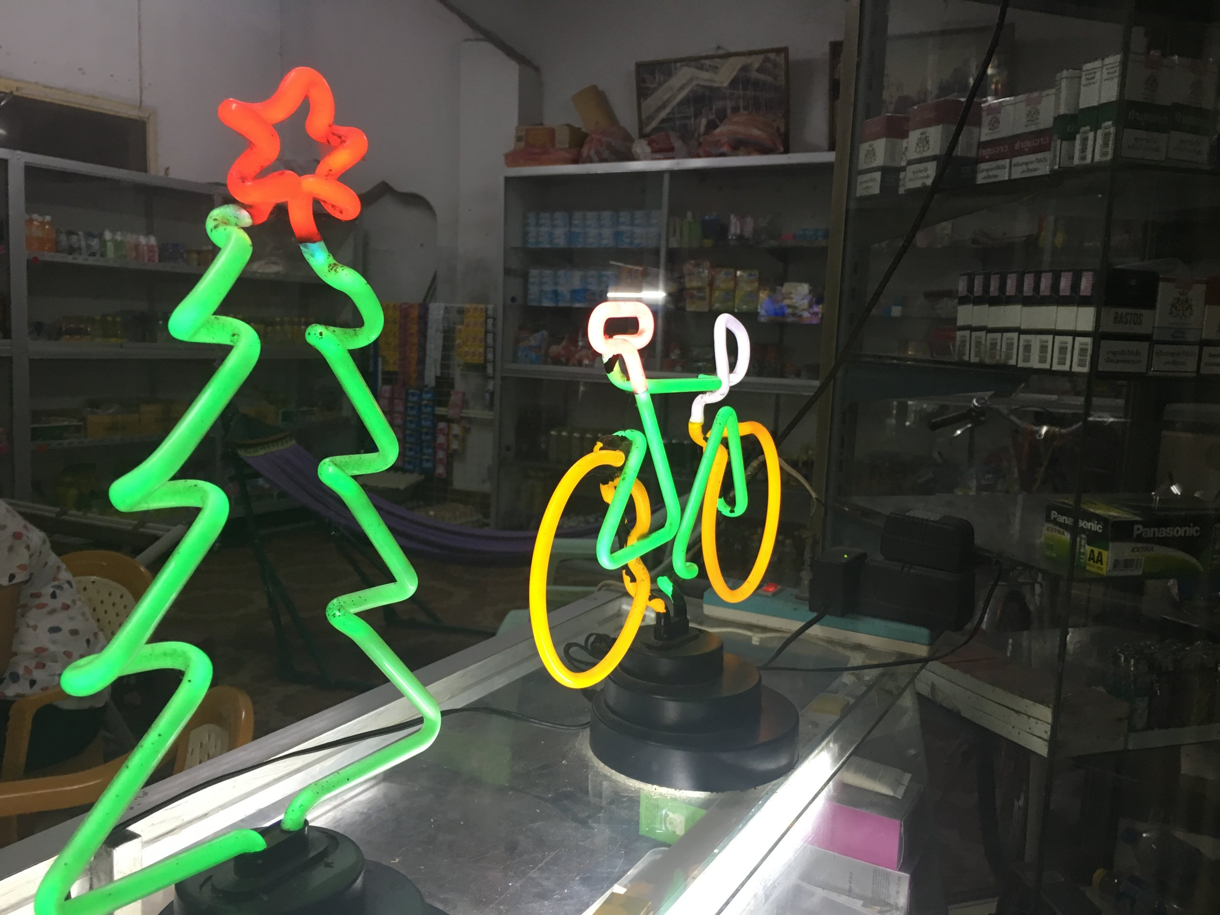Christmas Neon in Savannakhet | © Regina Beach