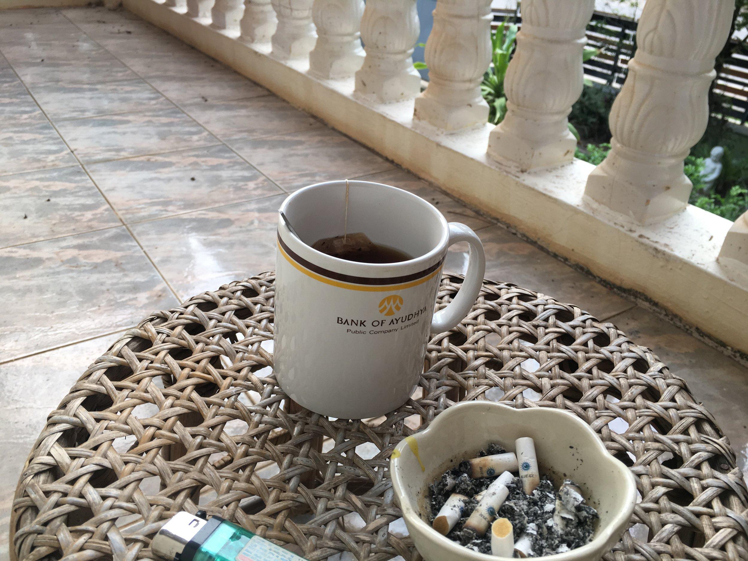 My old smoking corner