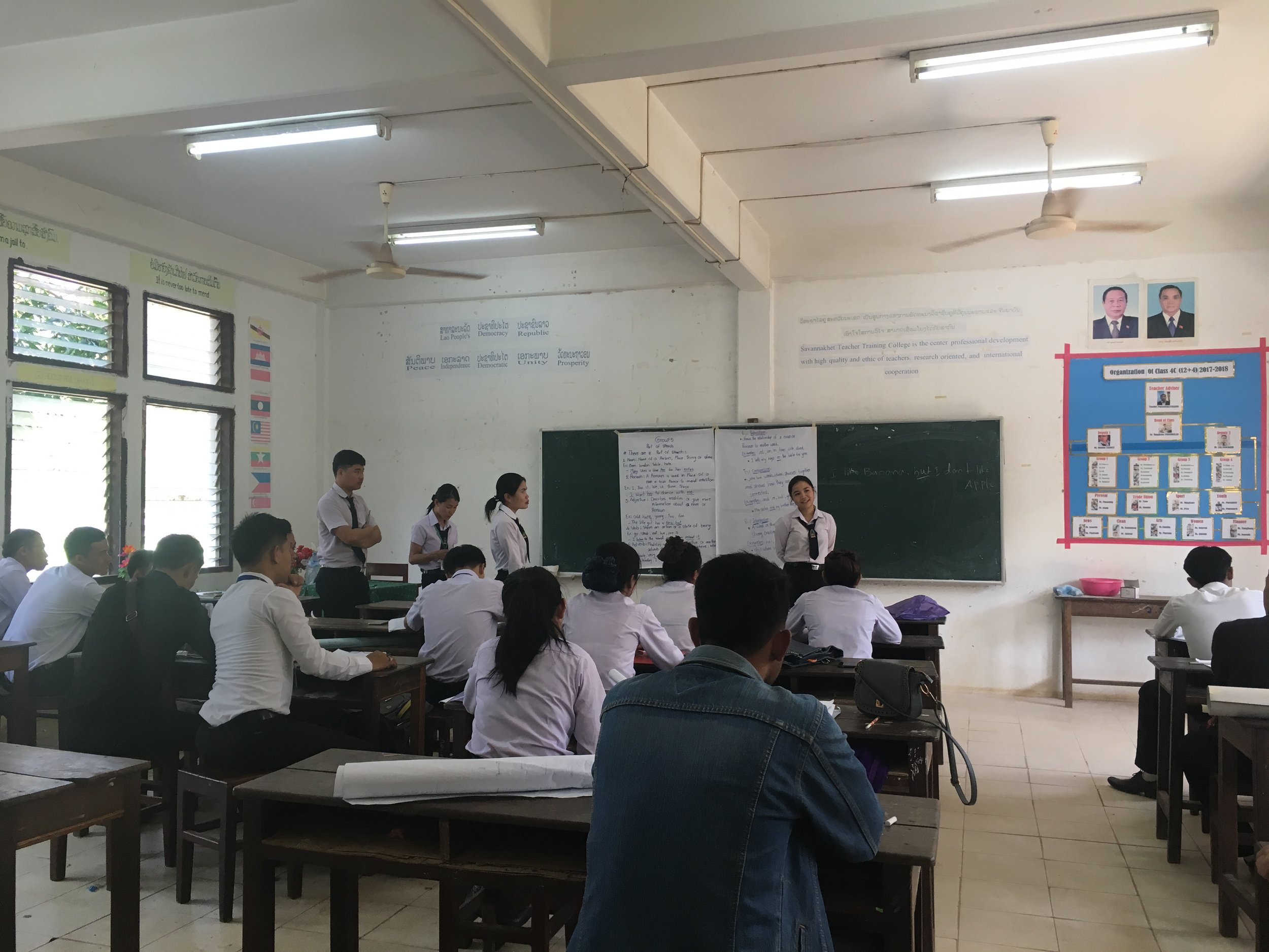 My classroom in Laos
