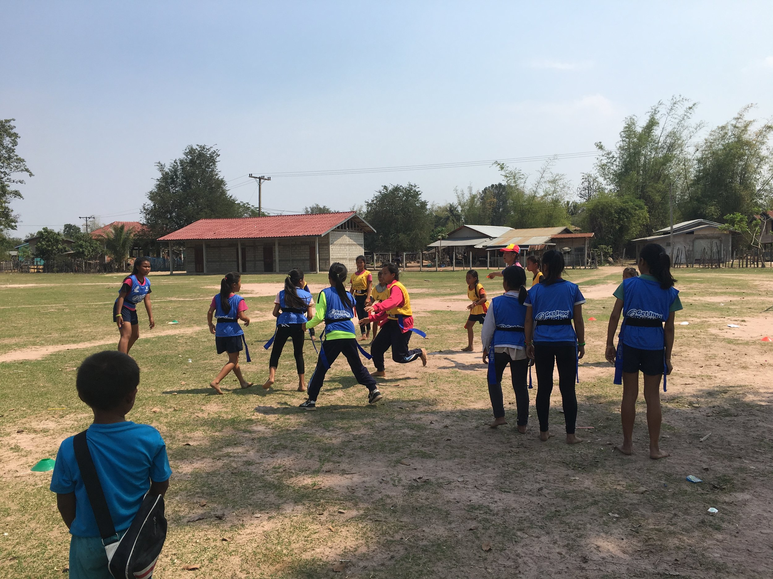 Lao Rugby coaches girls and trains coaches to teach dicipline and team work through sports.
