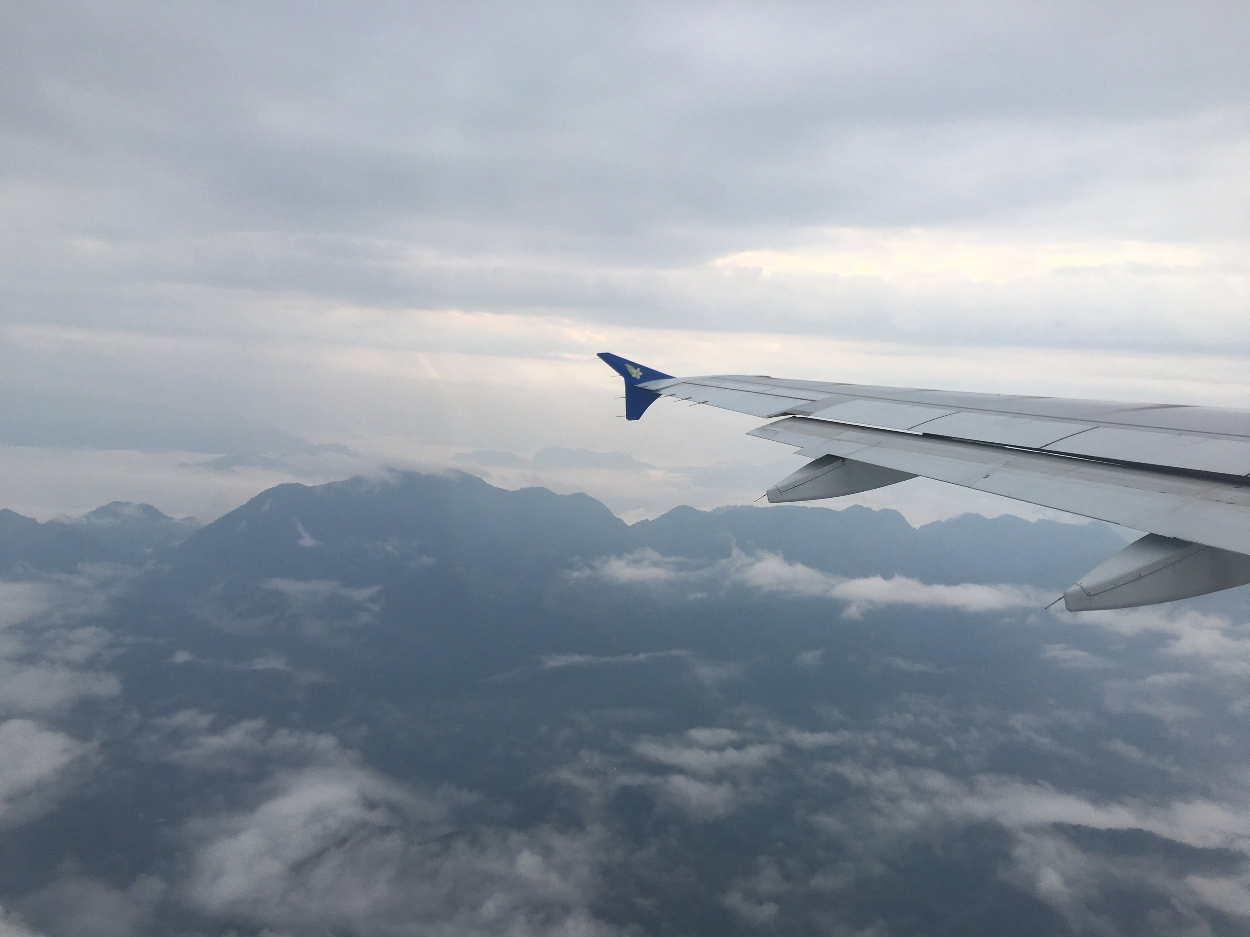 Lao Airlines Flight over Luang Prabang |© Regina Beach