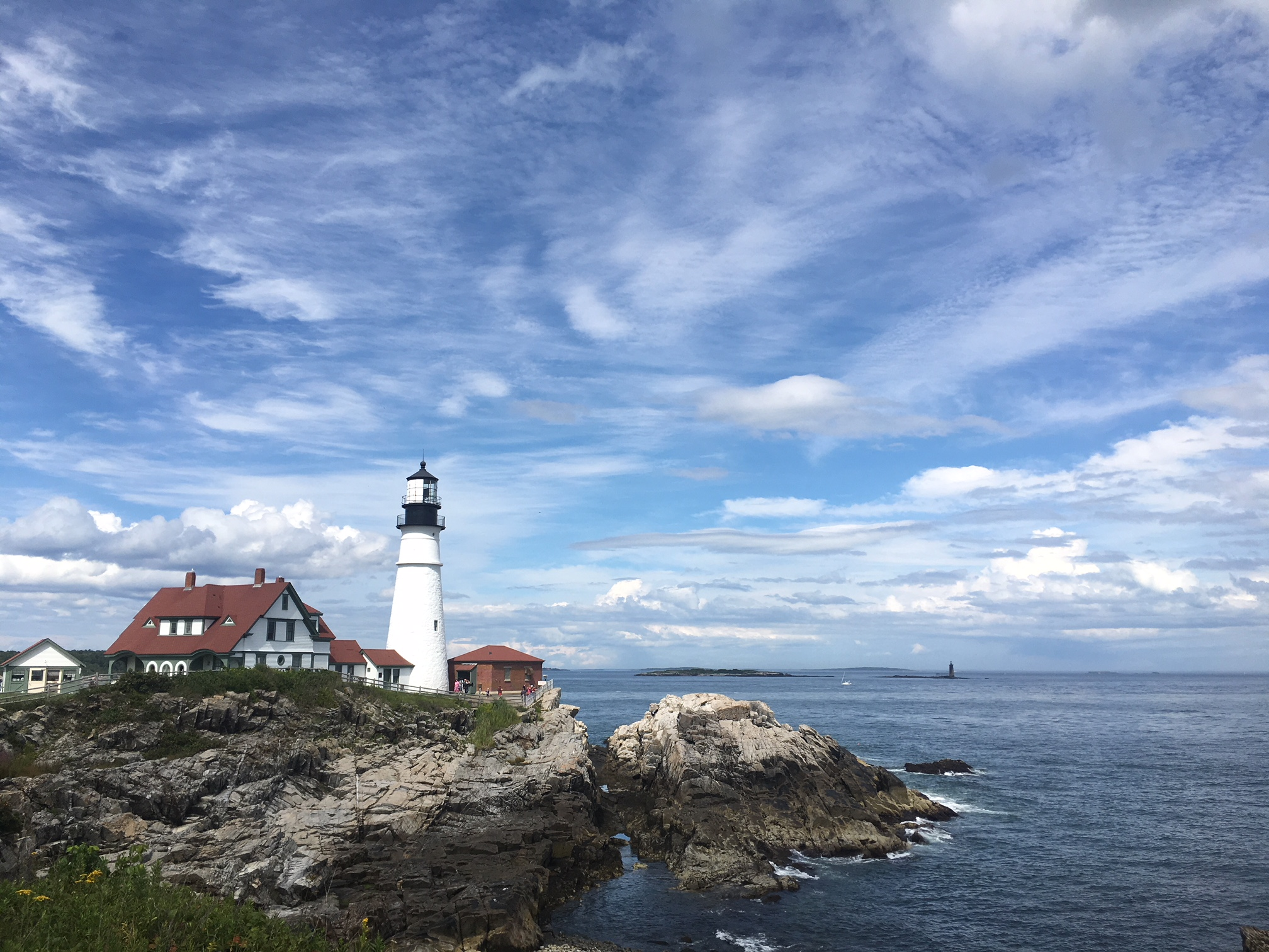 The Portland Headlight on Cape Elizabeth is one of the most photographed lighthouses in the world.
