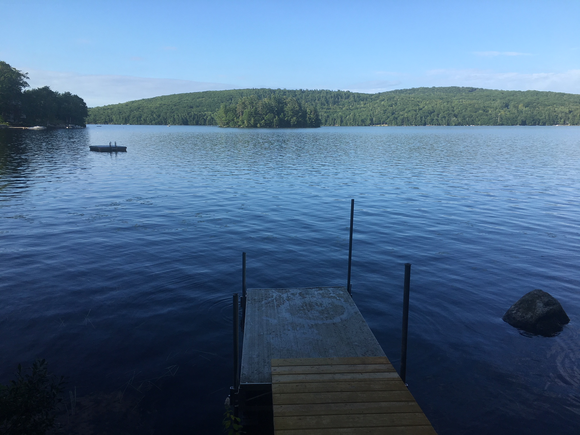 This dock was at the back of Mary's AirBnB property. I kayaked around the Island and swam to the floating dock.