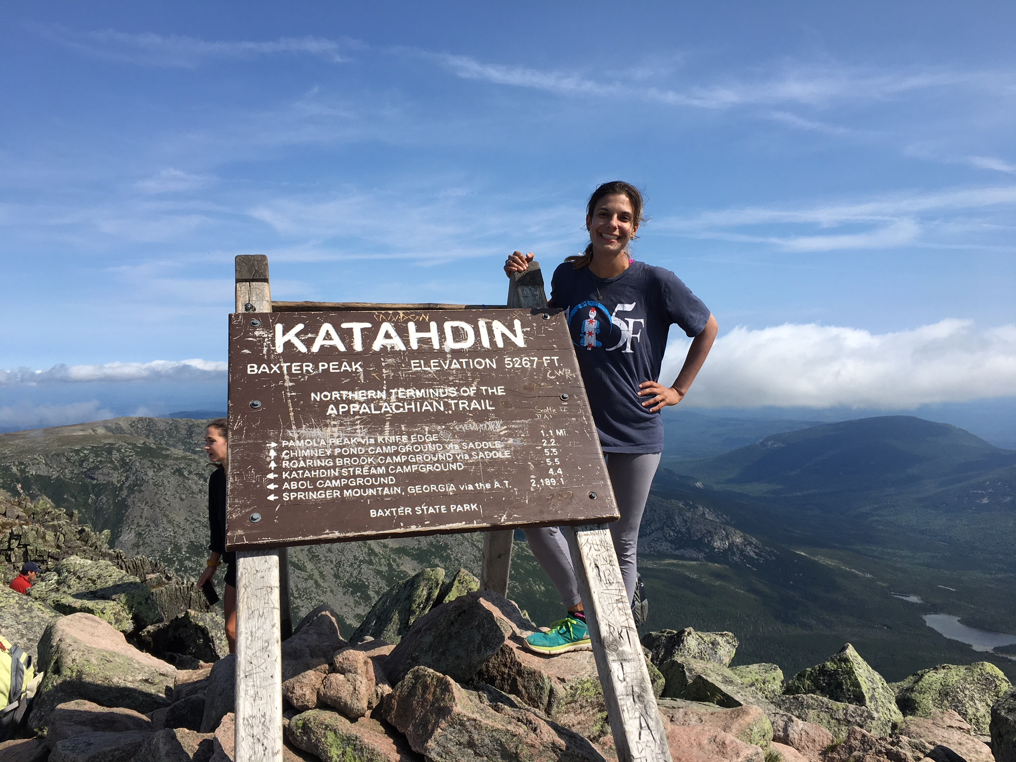 The clouds parted and the views were incredible from the top of Katahdin!