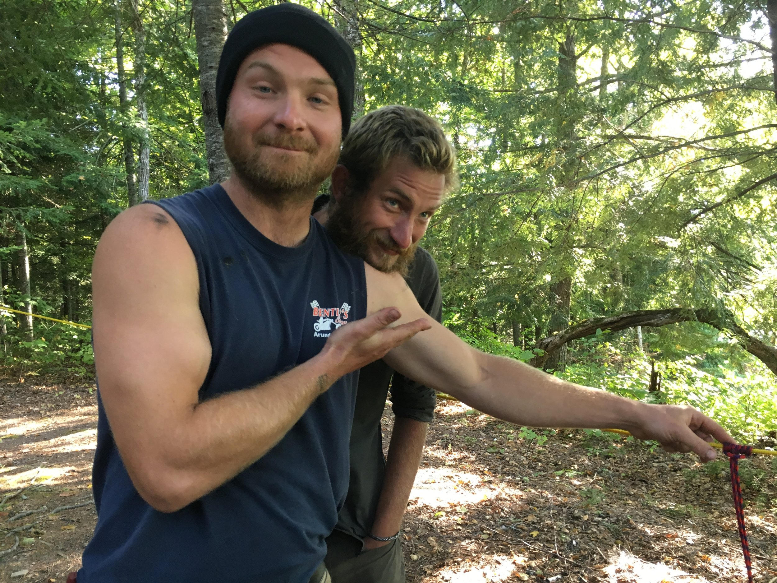 Colin and fellow Jack Mountain Bushcraft instructor Chris