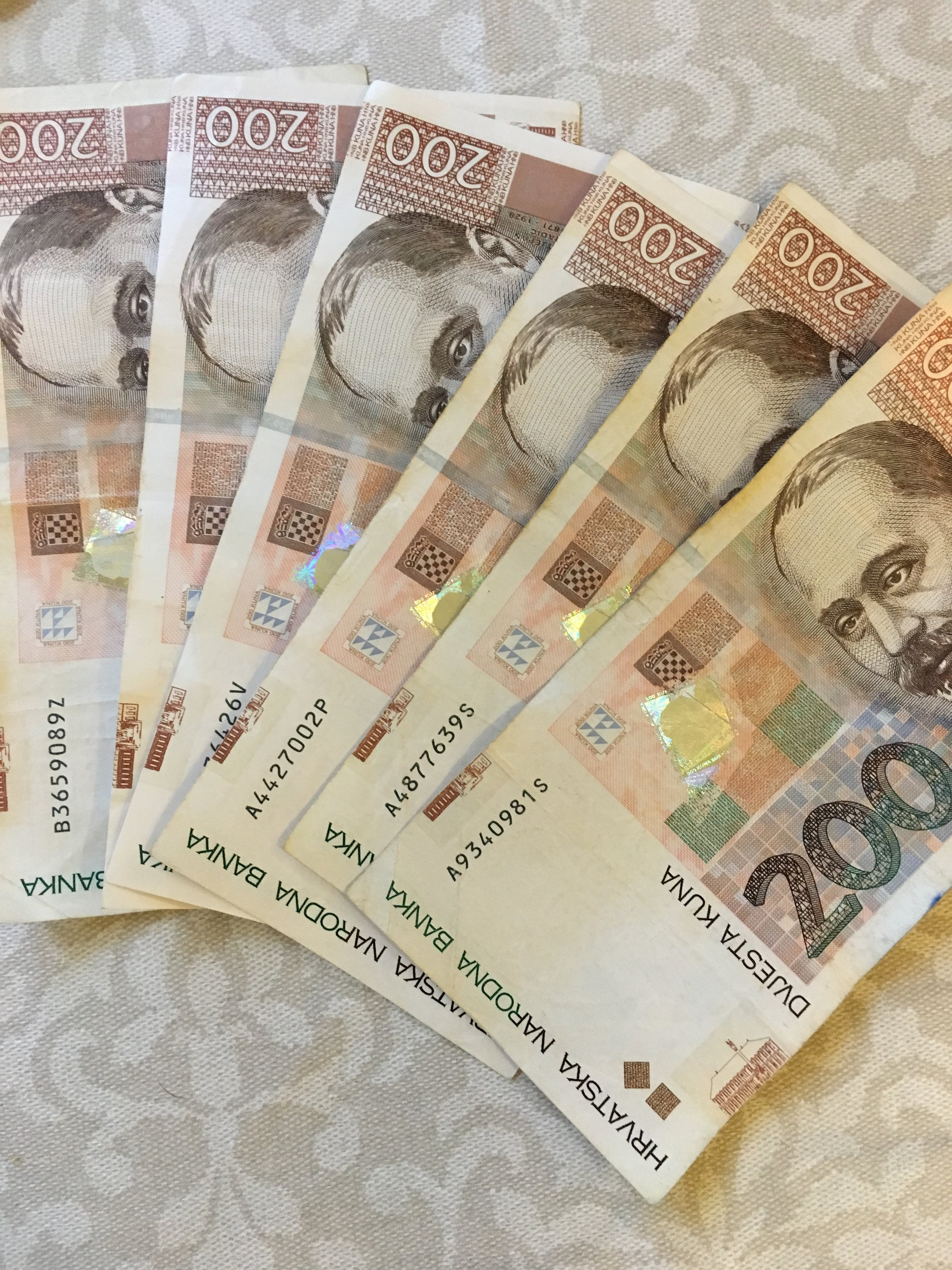Croatian kuna. $1 is equal to about 6.50 kuna.