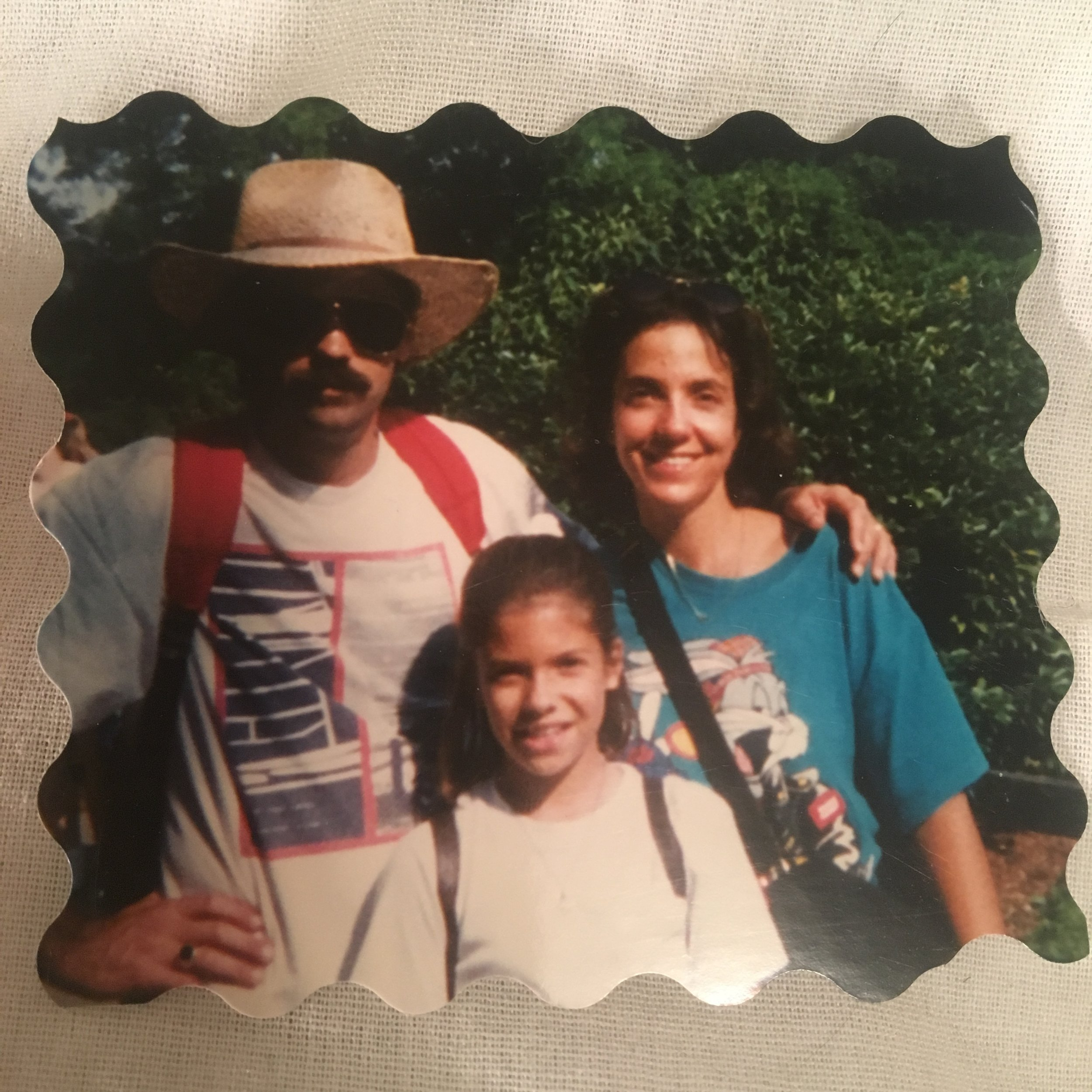 My parents and I in the '90s.