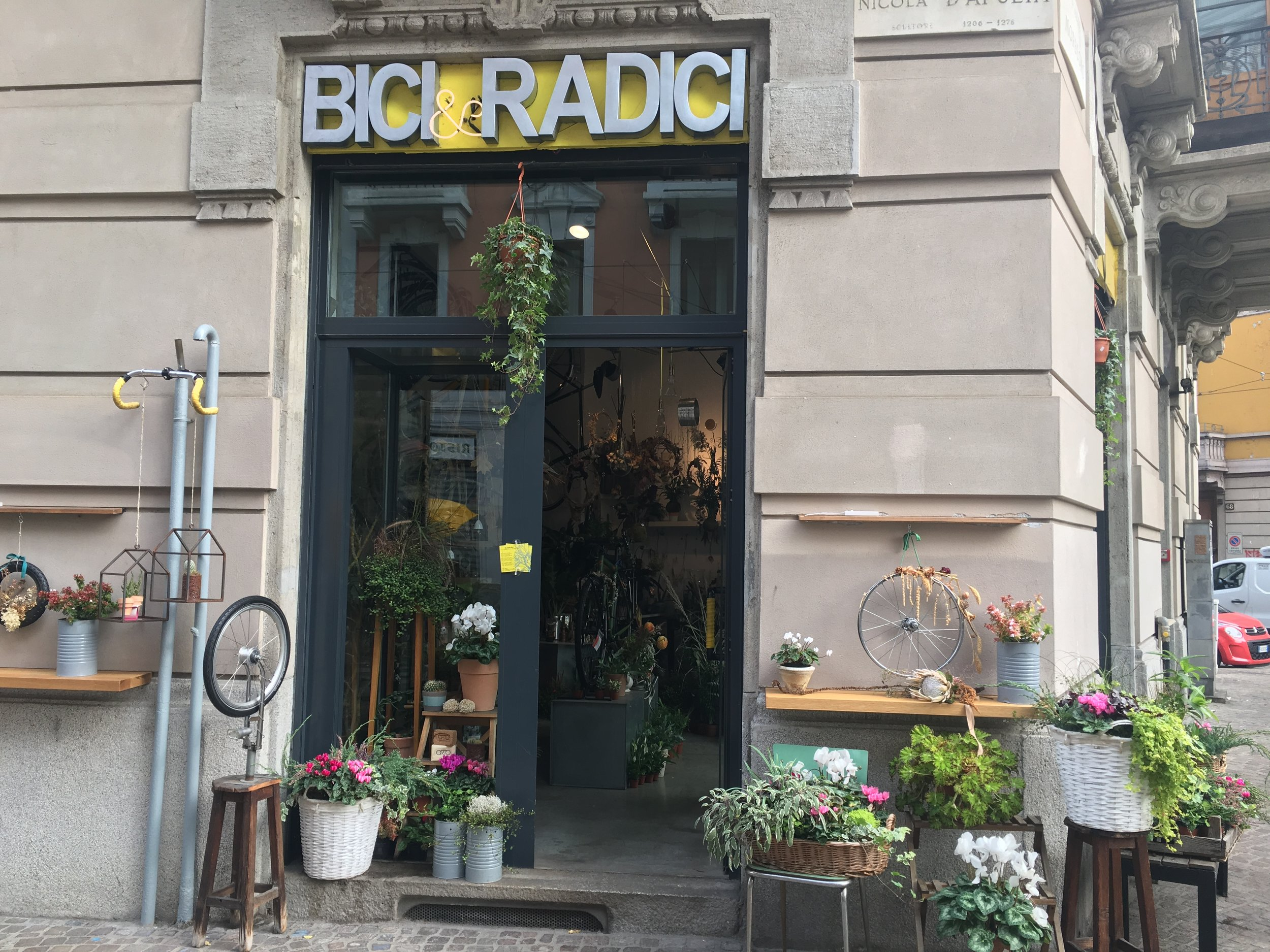 Bici and Radici was the cutest and least practical bike shop I've ever been in.