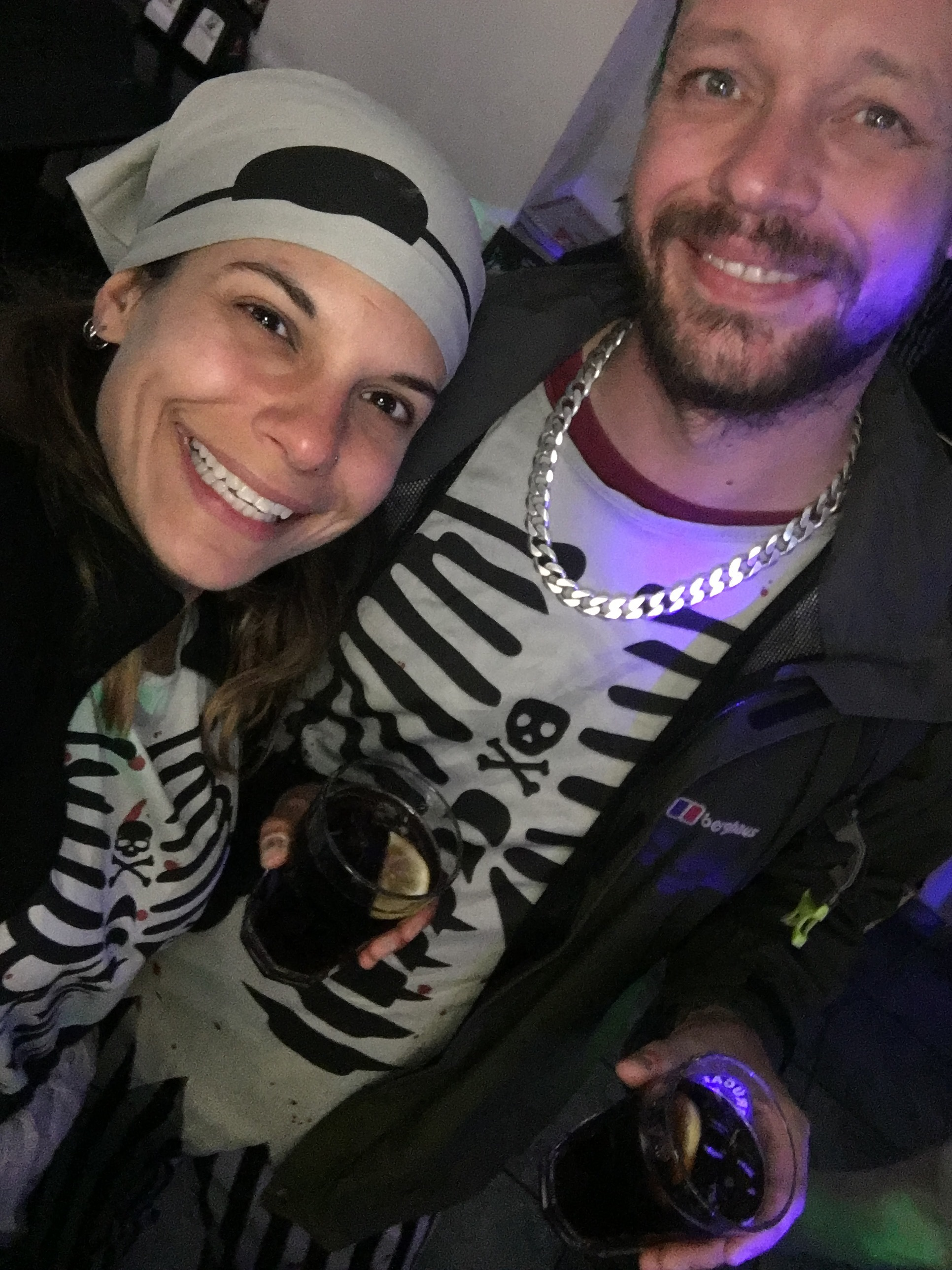 We dressed up as zombie pirates for halloween.