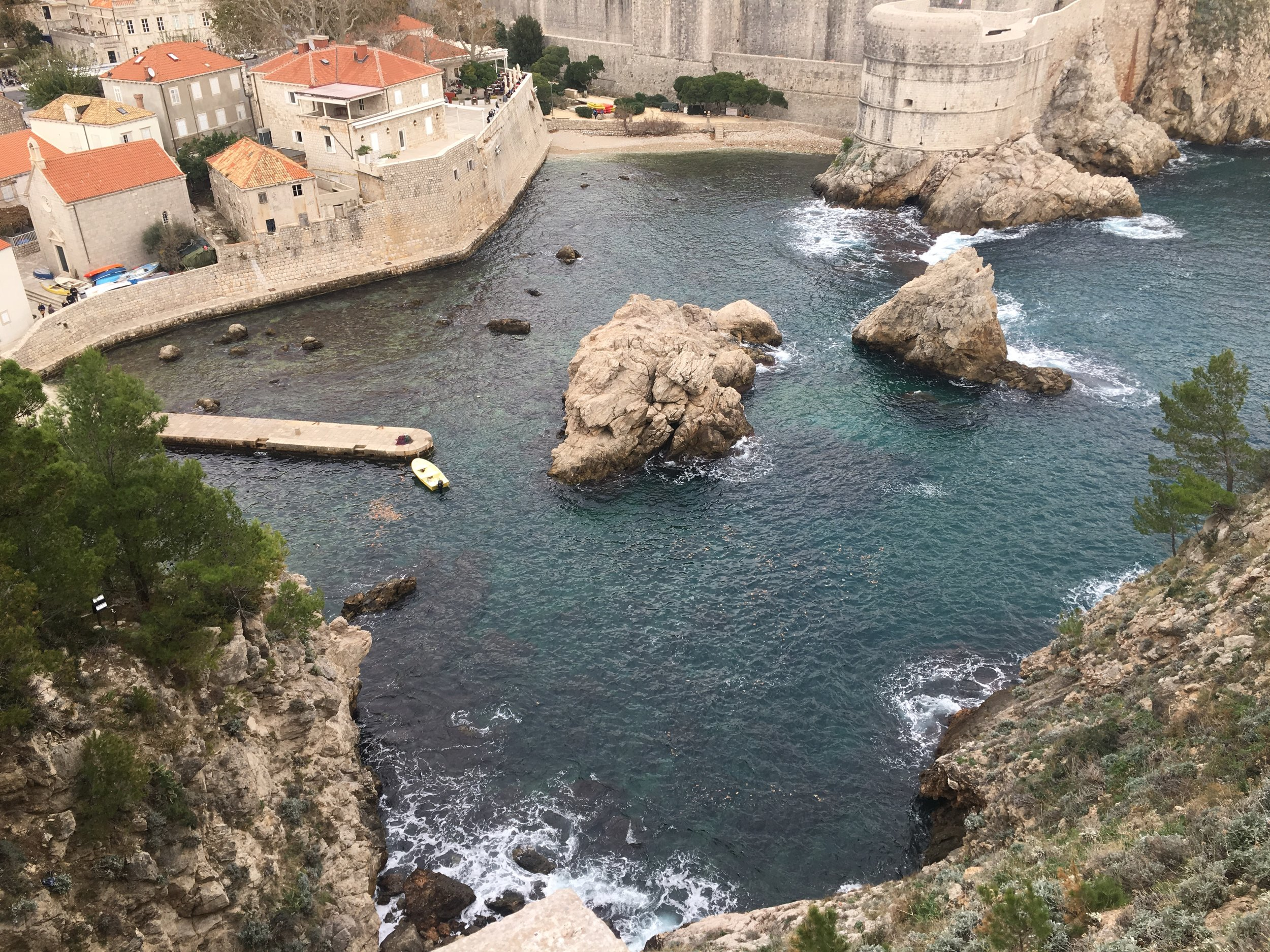 Black Water Bay from Game of Thrones was filmed in Dubrovnik.