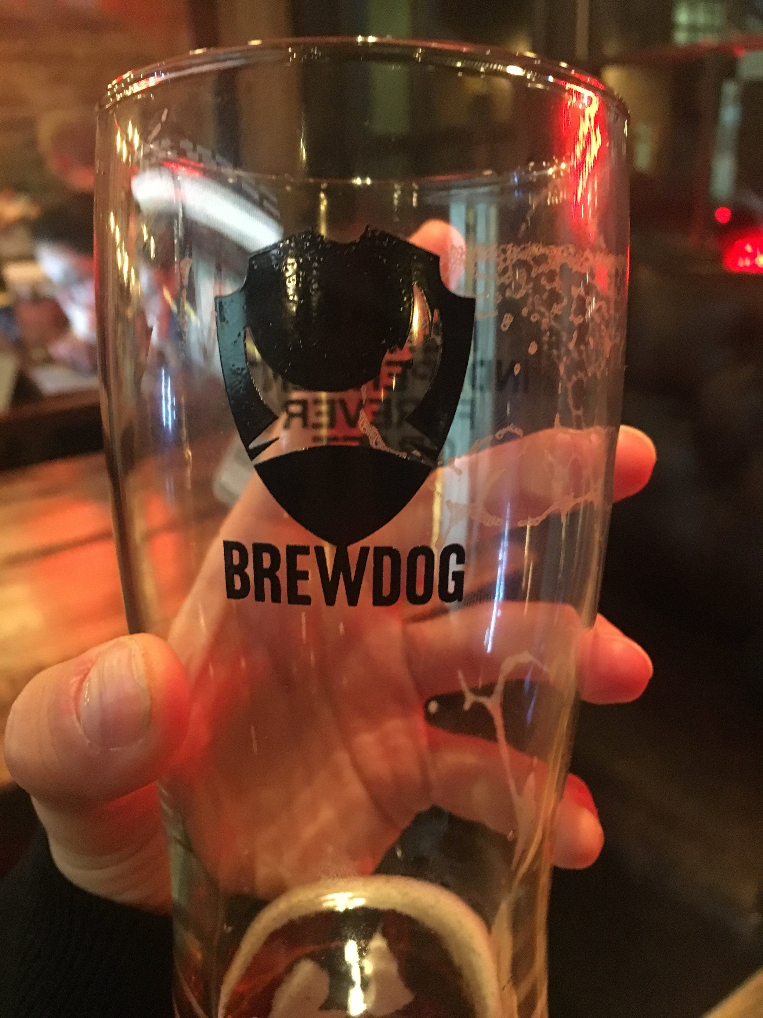 I first drank Brewdog in Italy. This was my first pint in the UK.