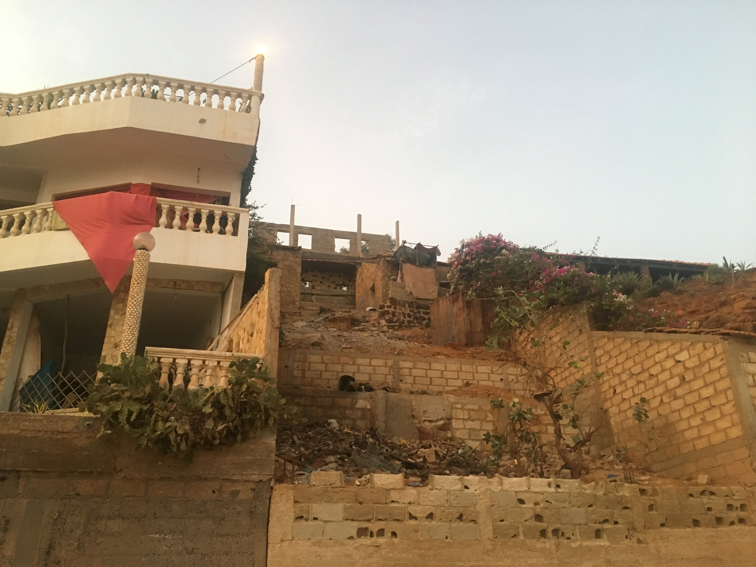 An unfinished house in Toubab Dialaw.