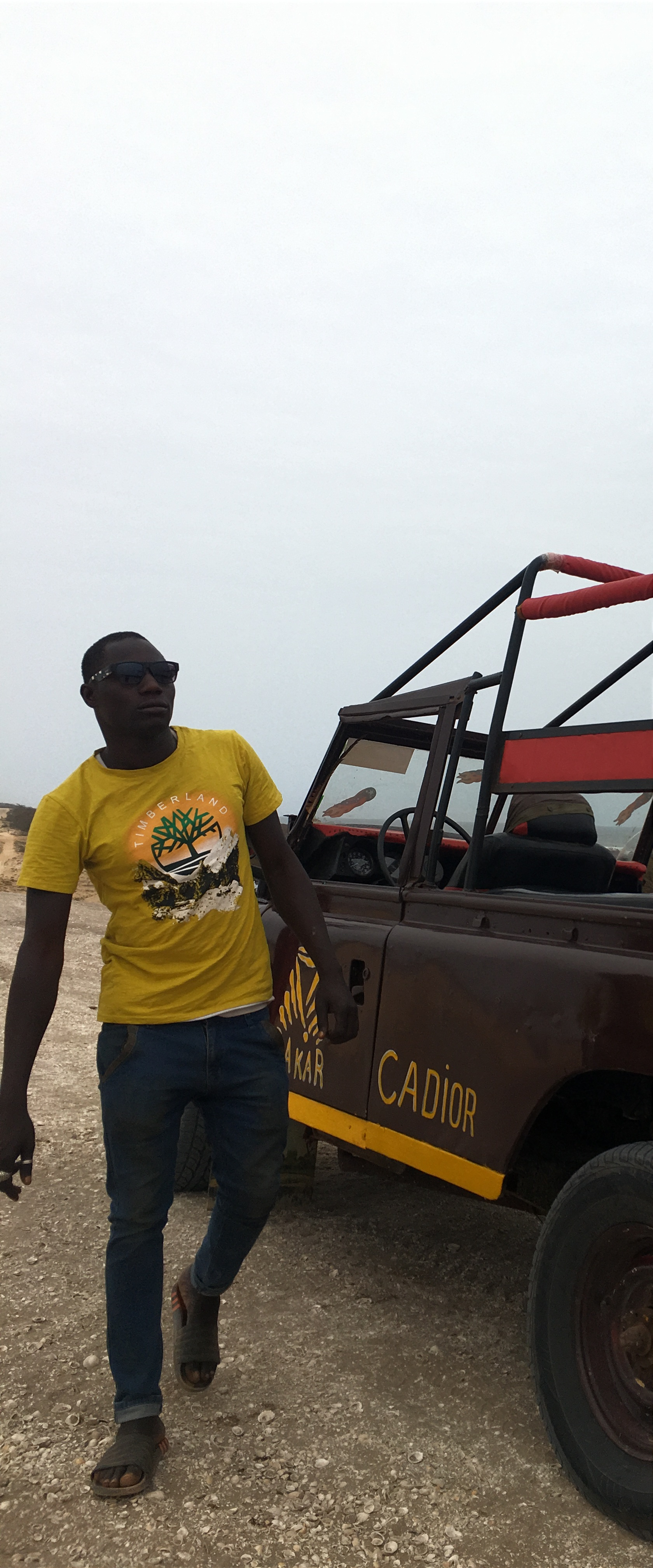 Our jeep and driver who spoke French but not English.