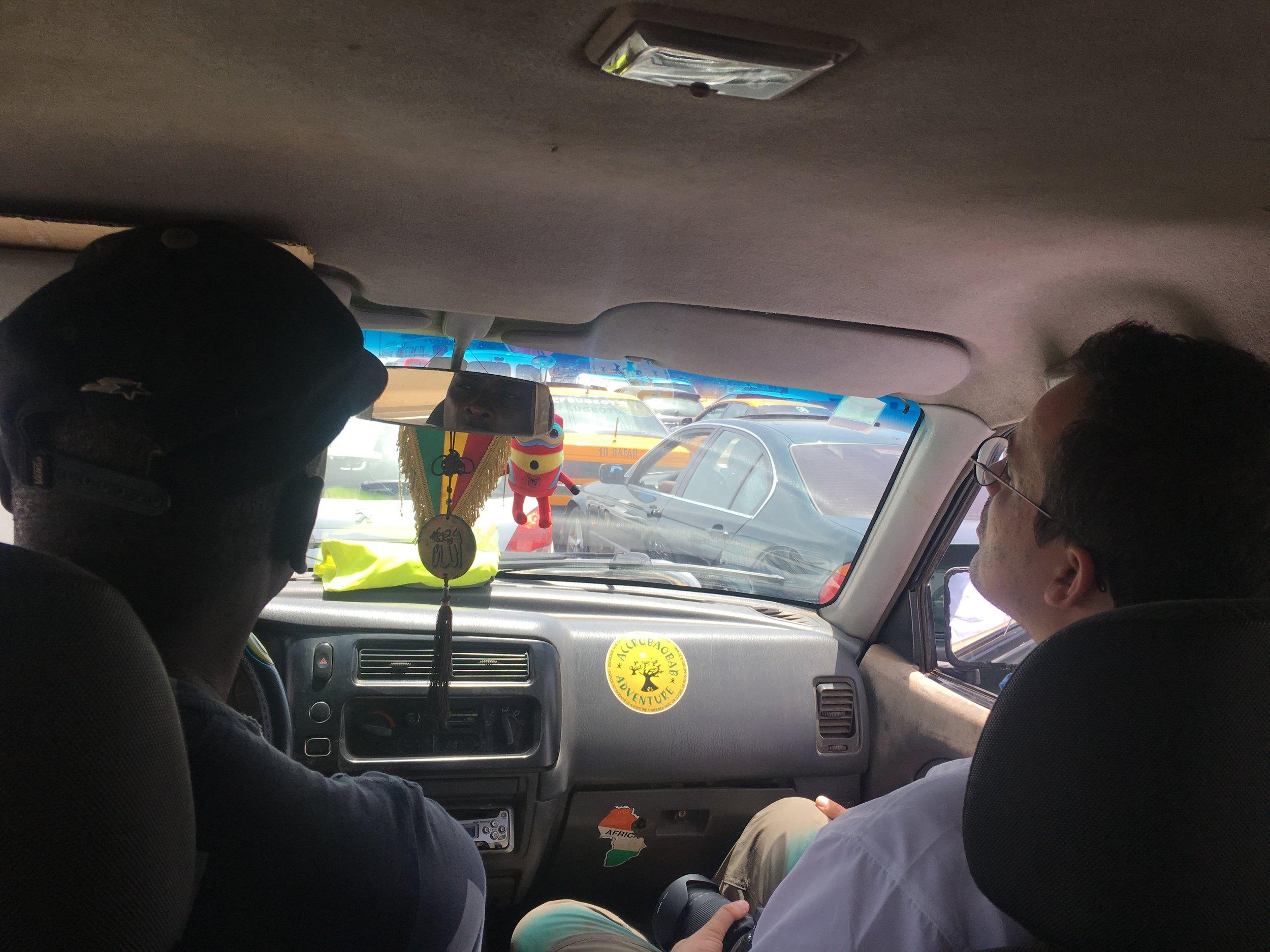 Dodo's car with Chris riding shotgun.
