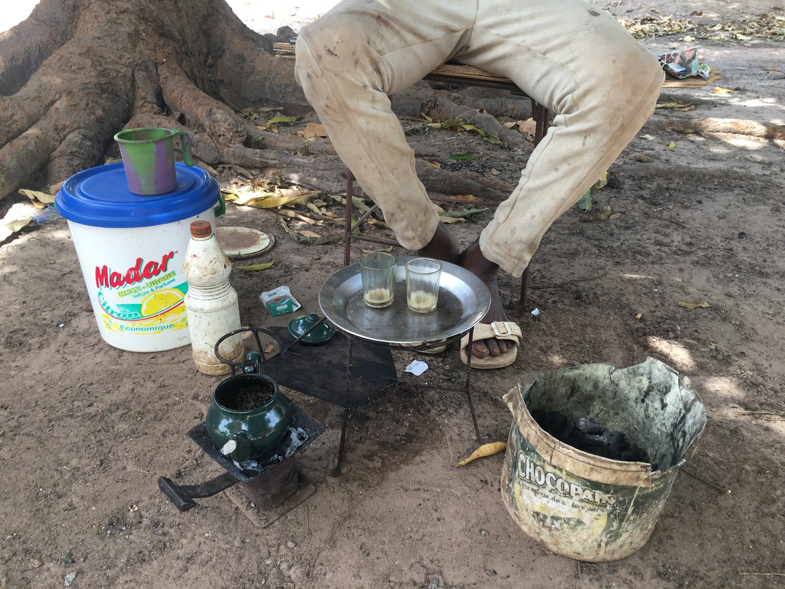 The English-speaking Gambian man didn't want his photo taken, but said I could photograph his tea.
