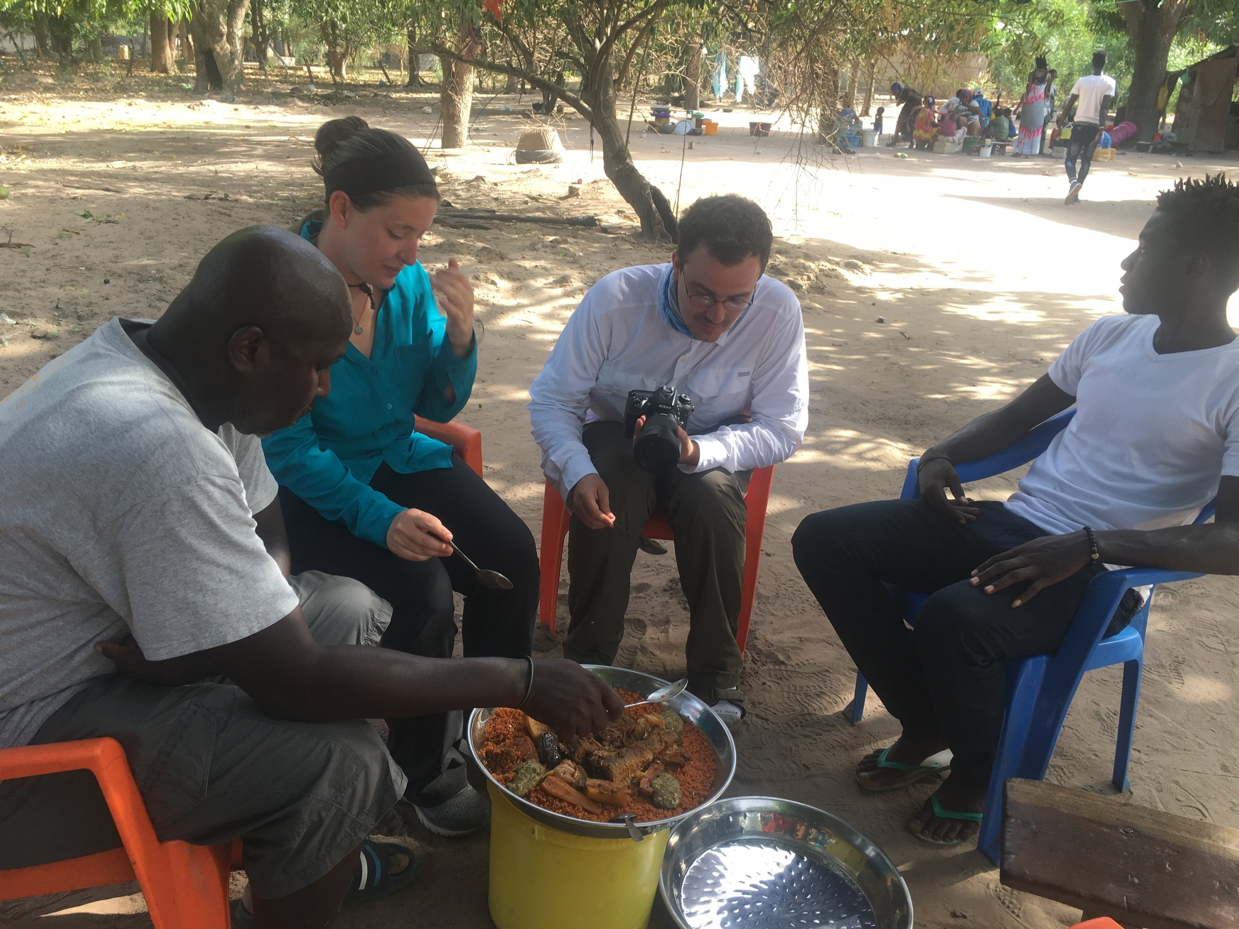 Communal eating is the norm in Senegal.