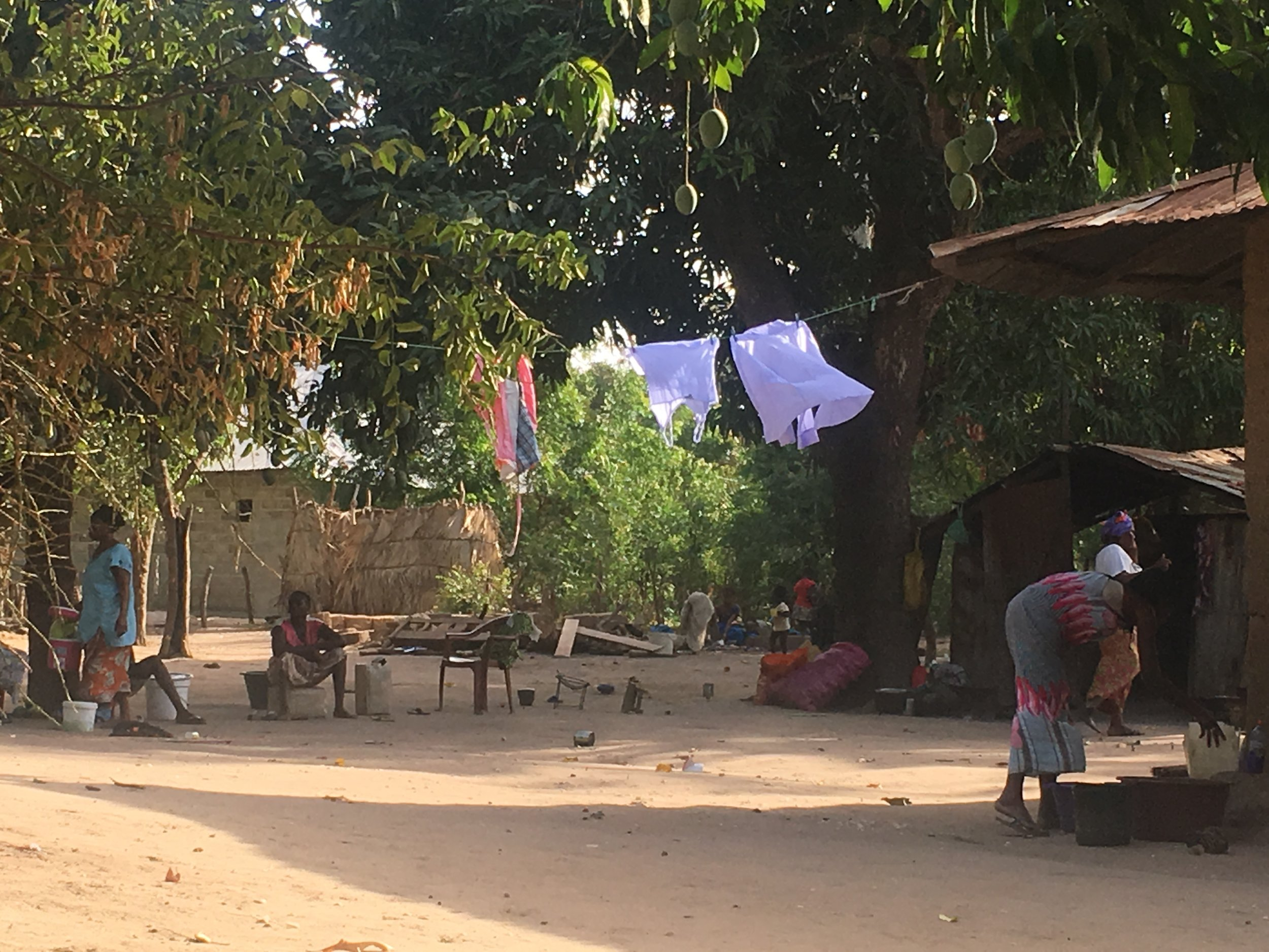 Most of daily Senegalese life takes place outside.