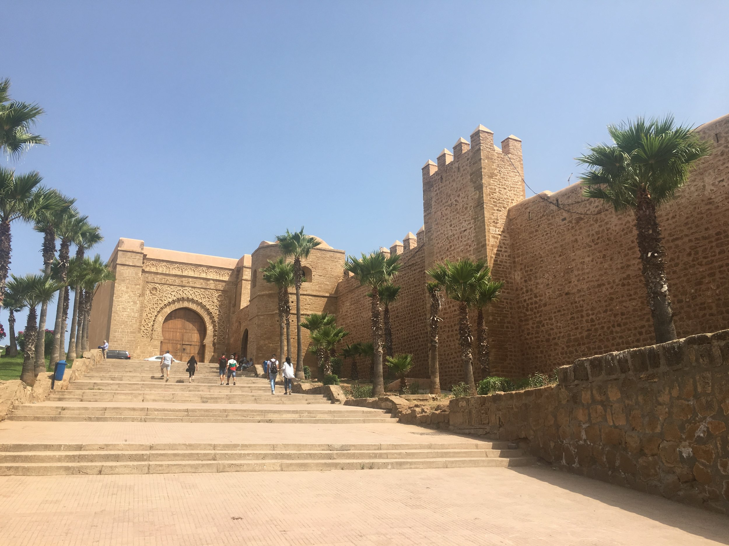 The gate and walls of the Medina in Rabat.