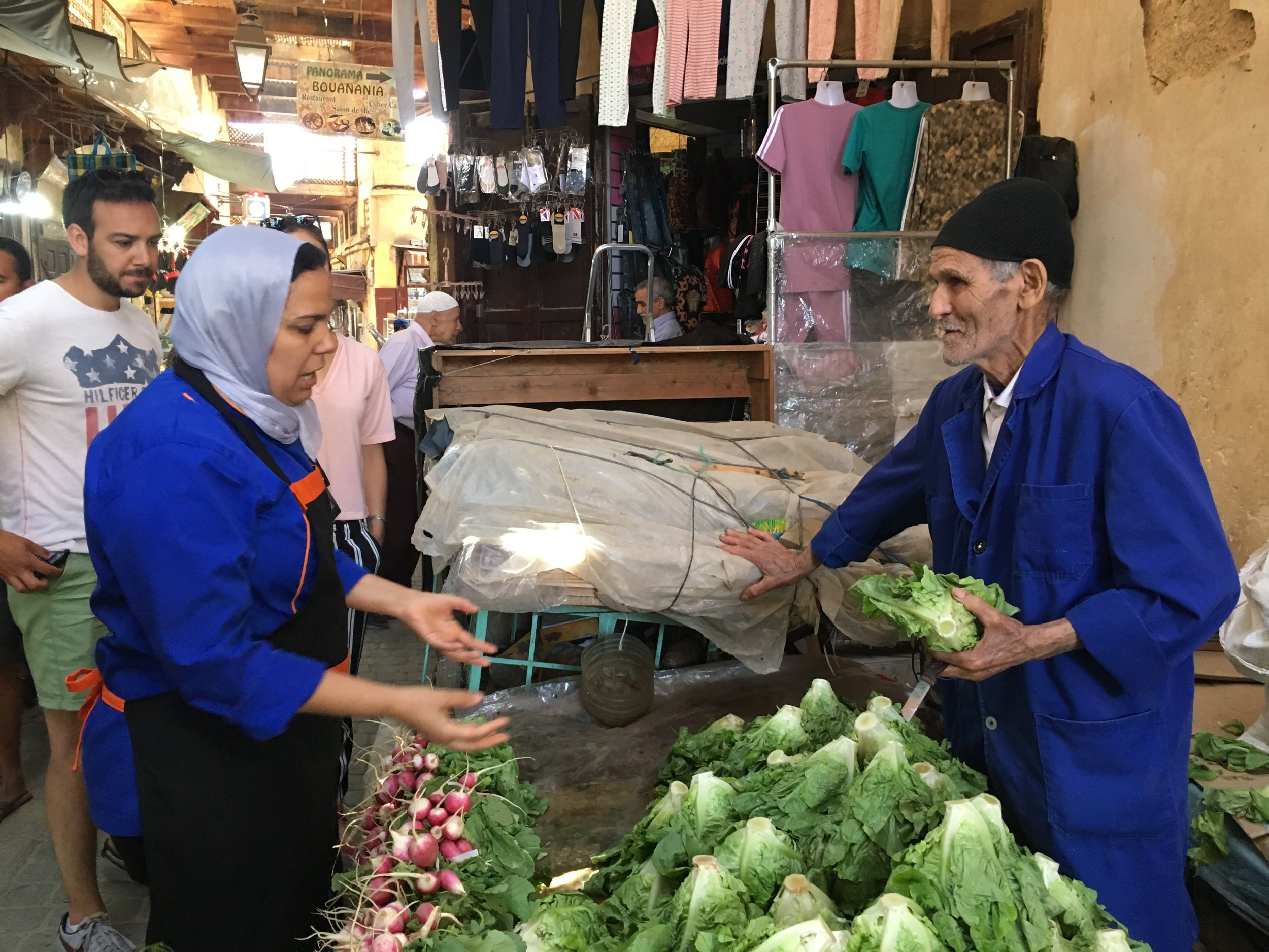 Morocco grows a ton of produce and it's almost all organically grown and brought into the medina by push cart or donkey.
