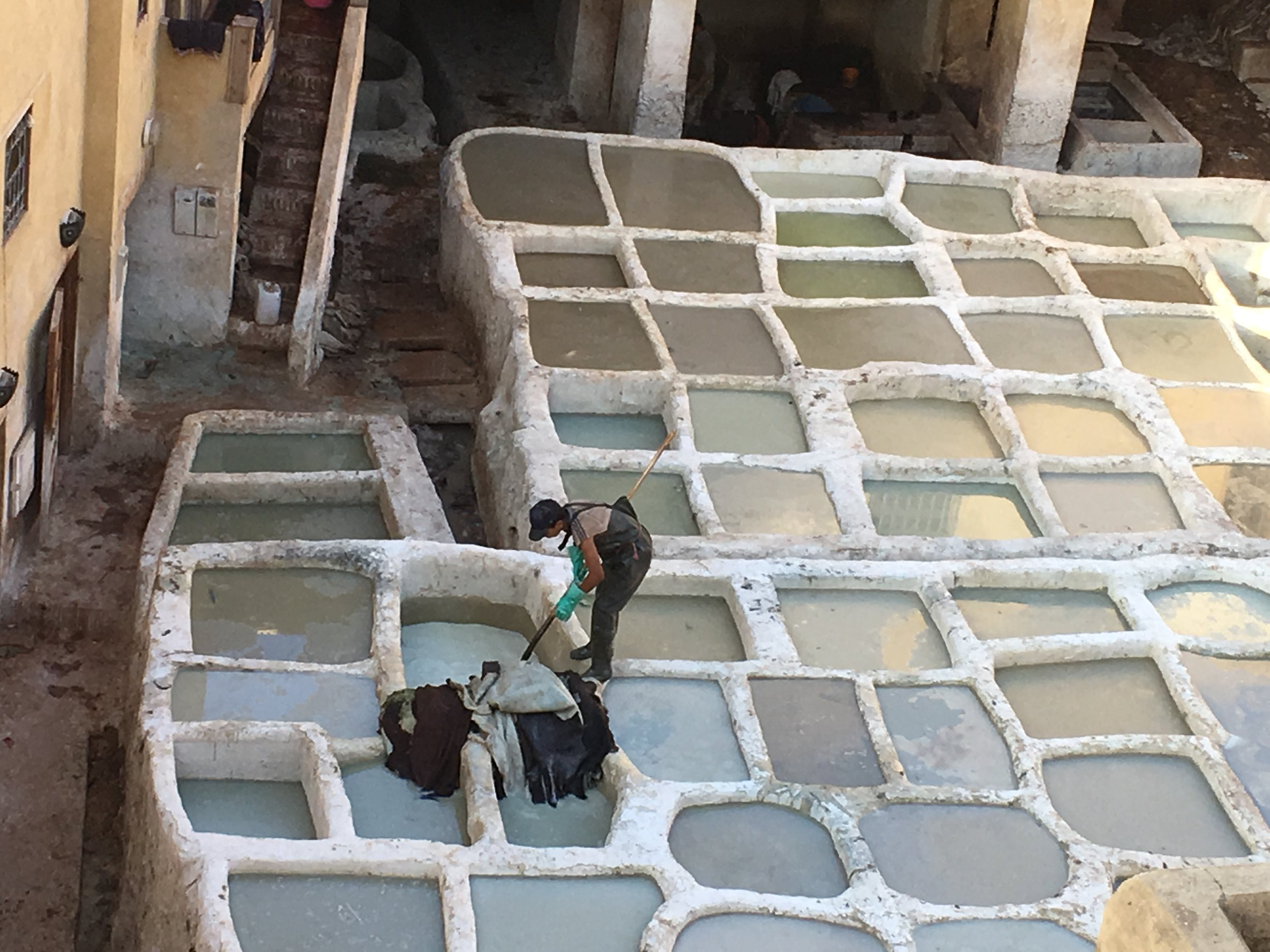 The Chaouwara tanneries are the oldest in Africa having been built in medieval times and refurbished in 2016. The process remains unchanged and many of the workers are from the same family who orally pass down the technique through the generations.