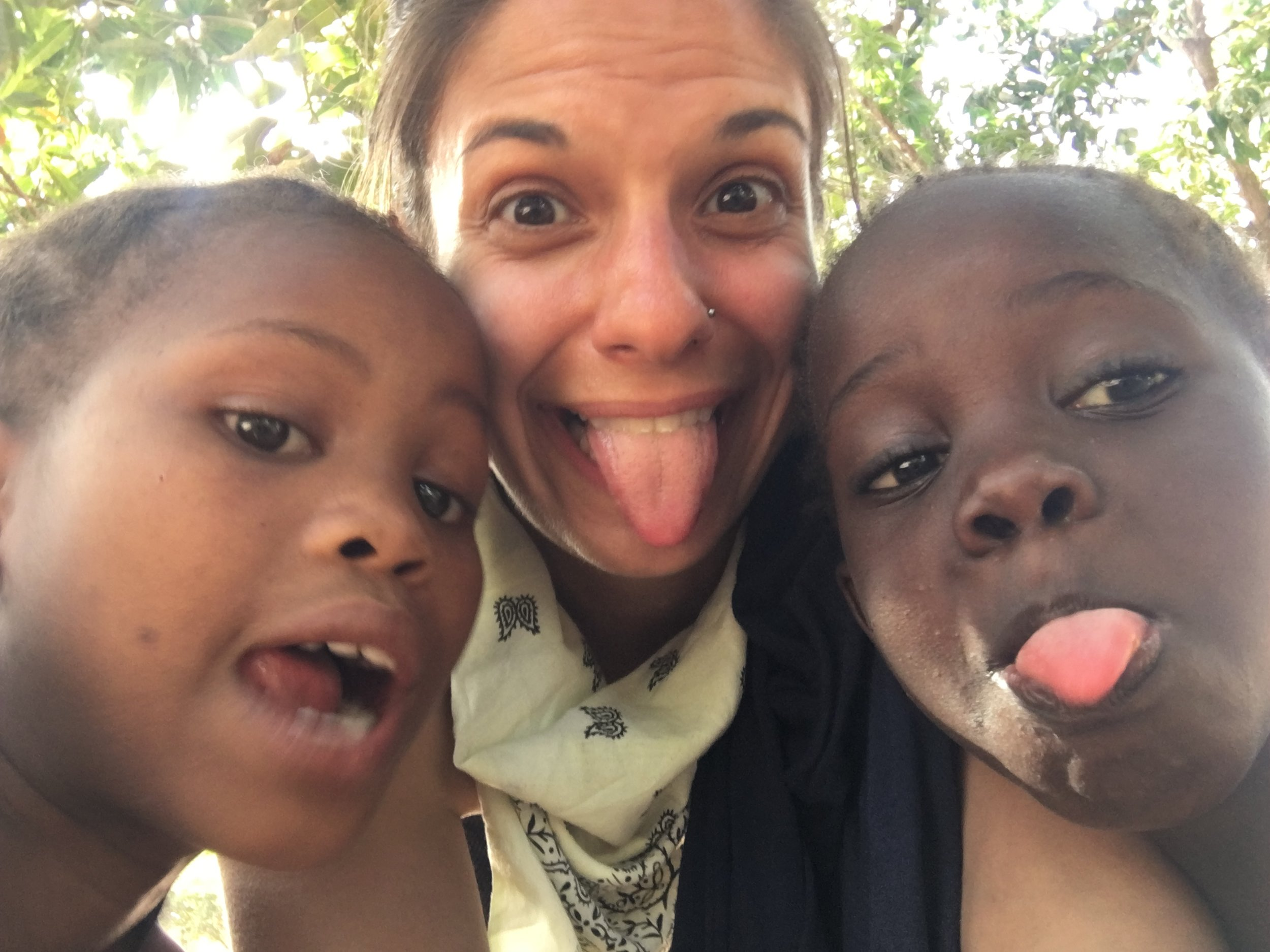 The Senegalese kids loved taking selfies with my cell phone.