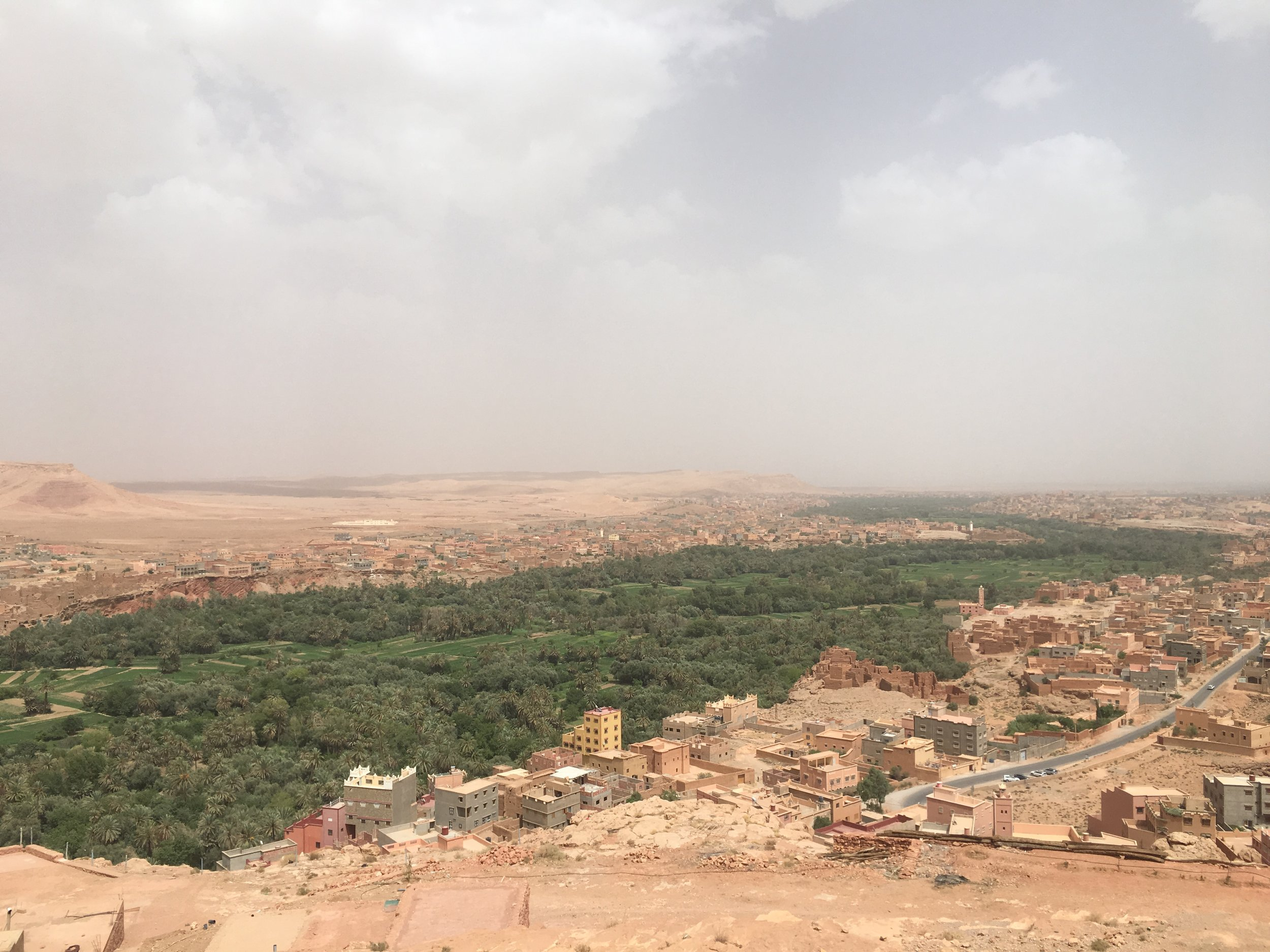 The Berber communities that surround the Ziz river are mostly made from sun-dried clay.