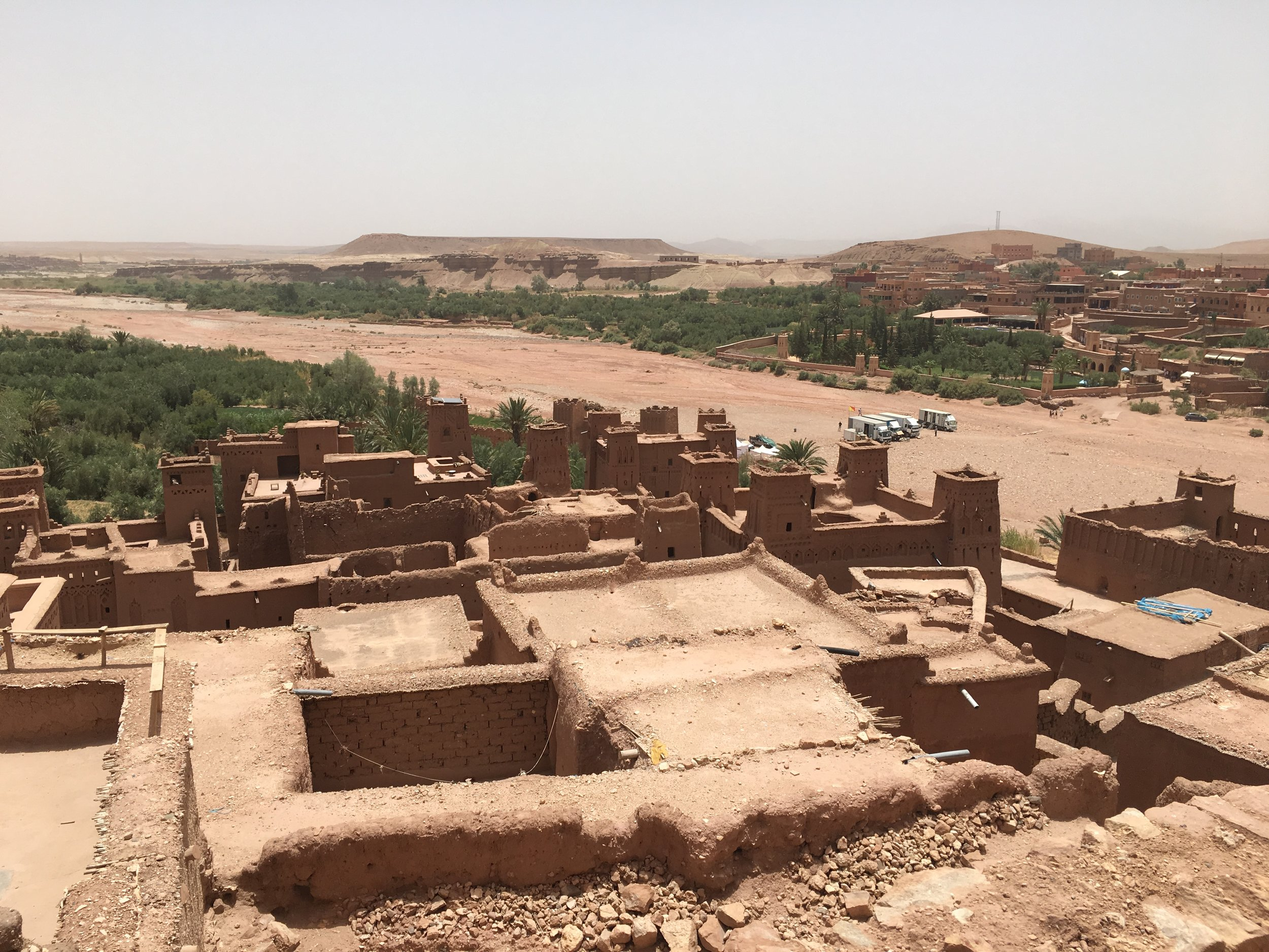 The Kasban de Ait Ben Haddou sits on the often dry El Maleh River.