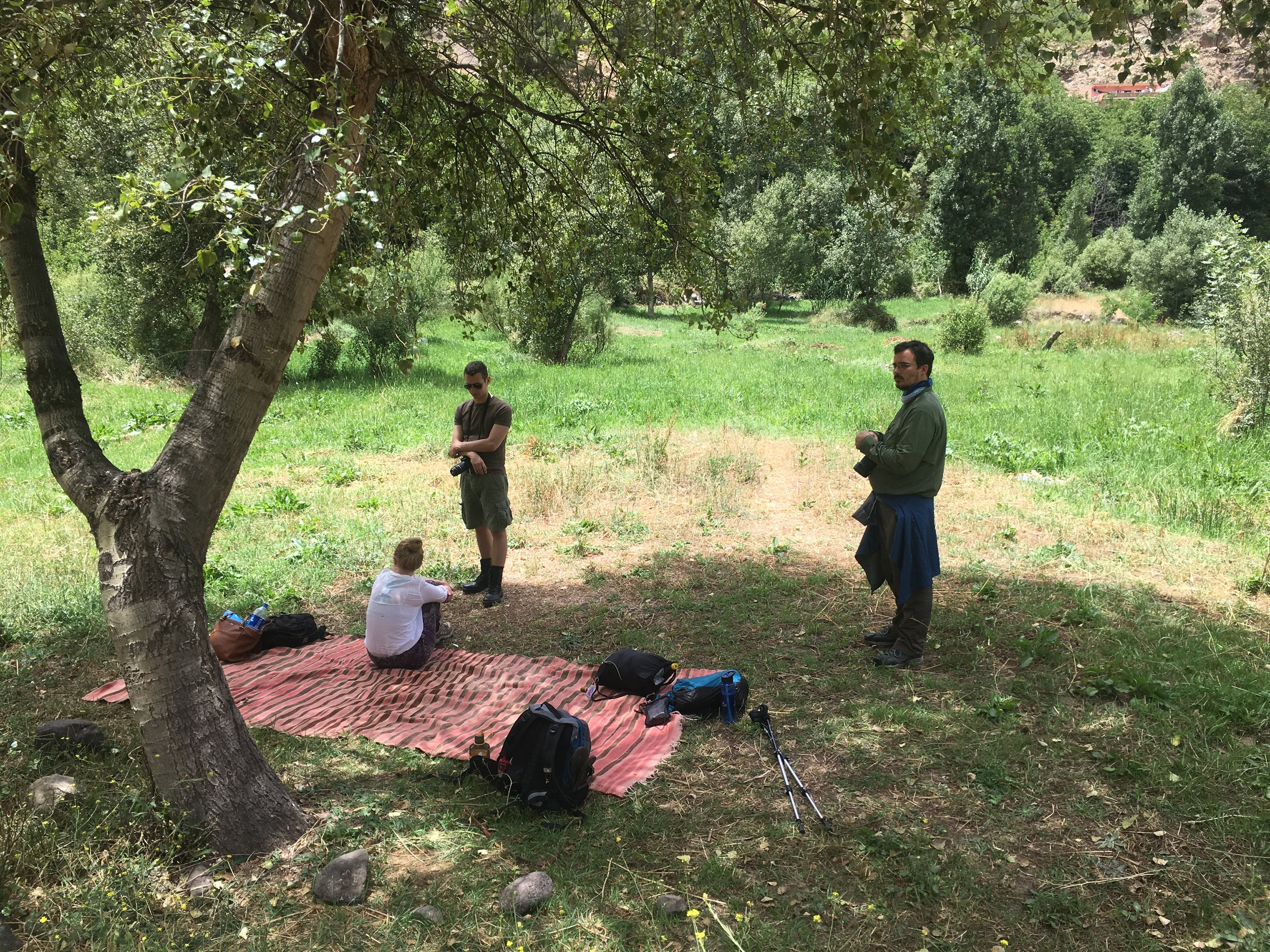 We ate our lunches on this sheep's wool blanket that doubled as Abdil's prayer rug.