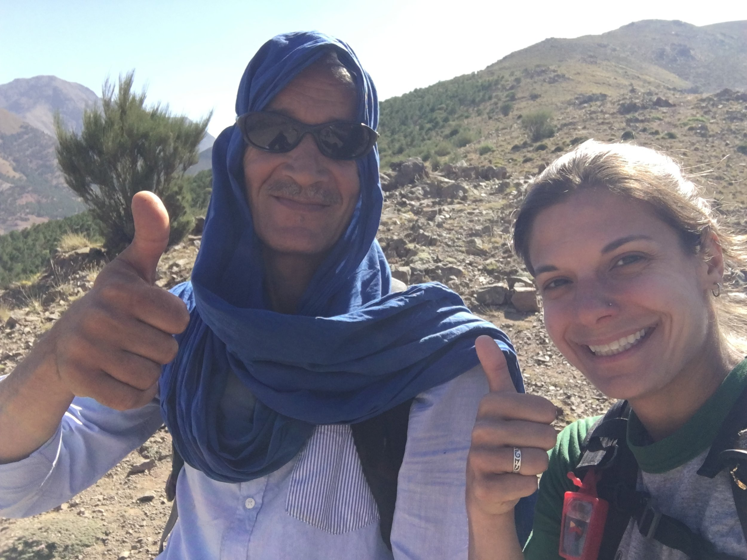 Ali likes the mountains as much as I do. We give the High Atlas a big thumbs up.