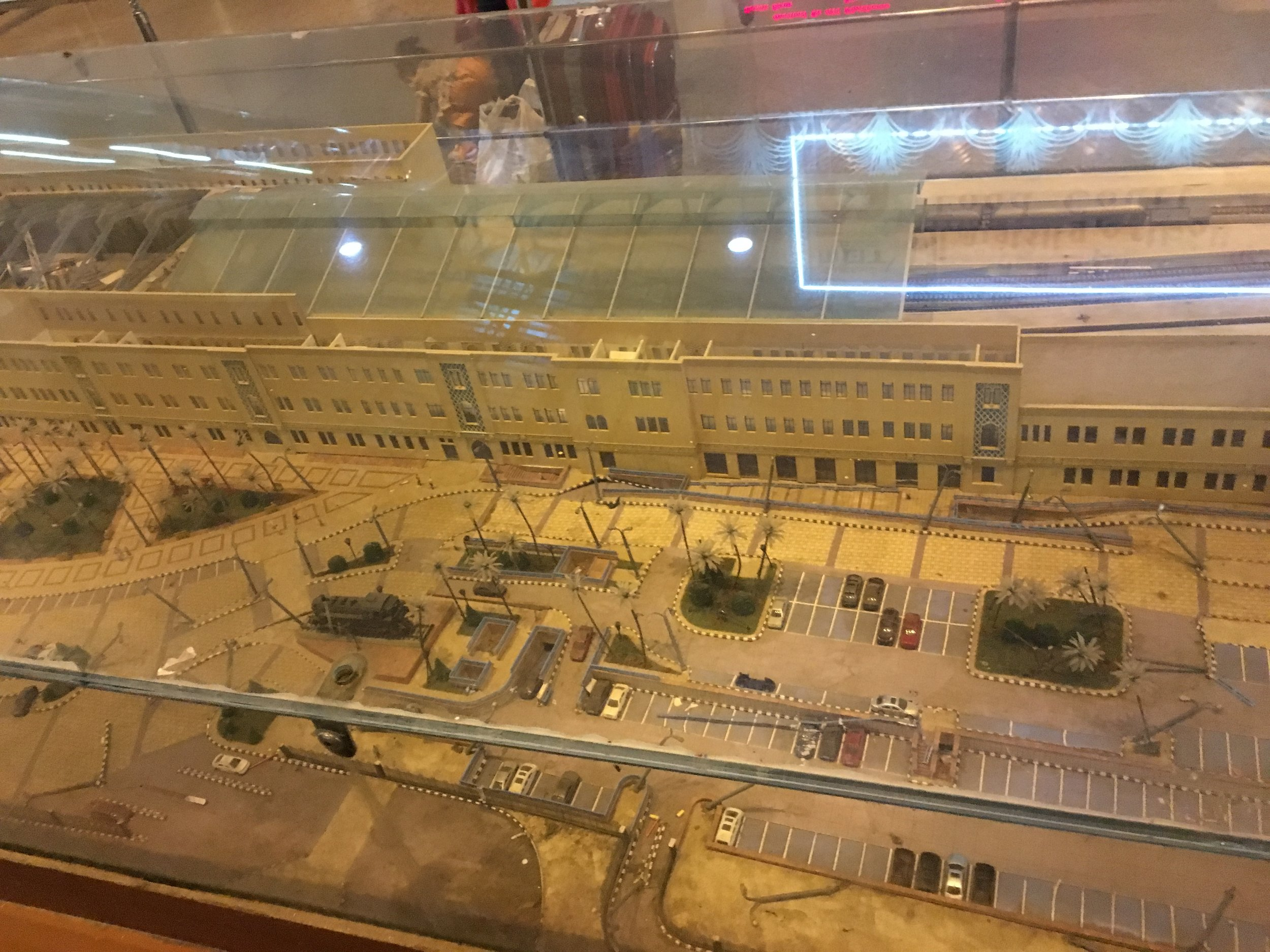 This model of the Cairo rail station makes parking look orderly and easy to understandable. It's not. Cairo traffic is a nightmare.
