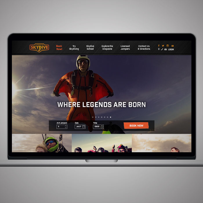 Edmonton Skydive Website Design