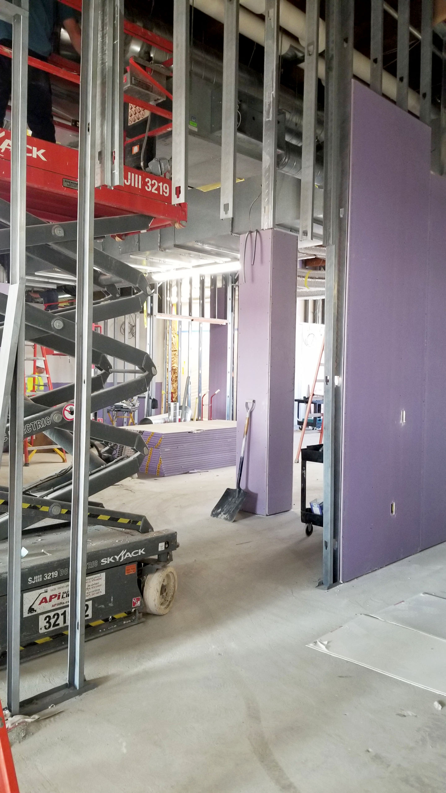 It is always interesting watching walls going up!