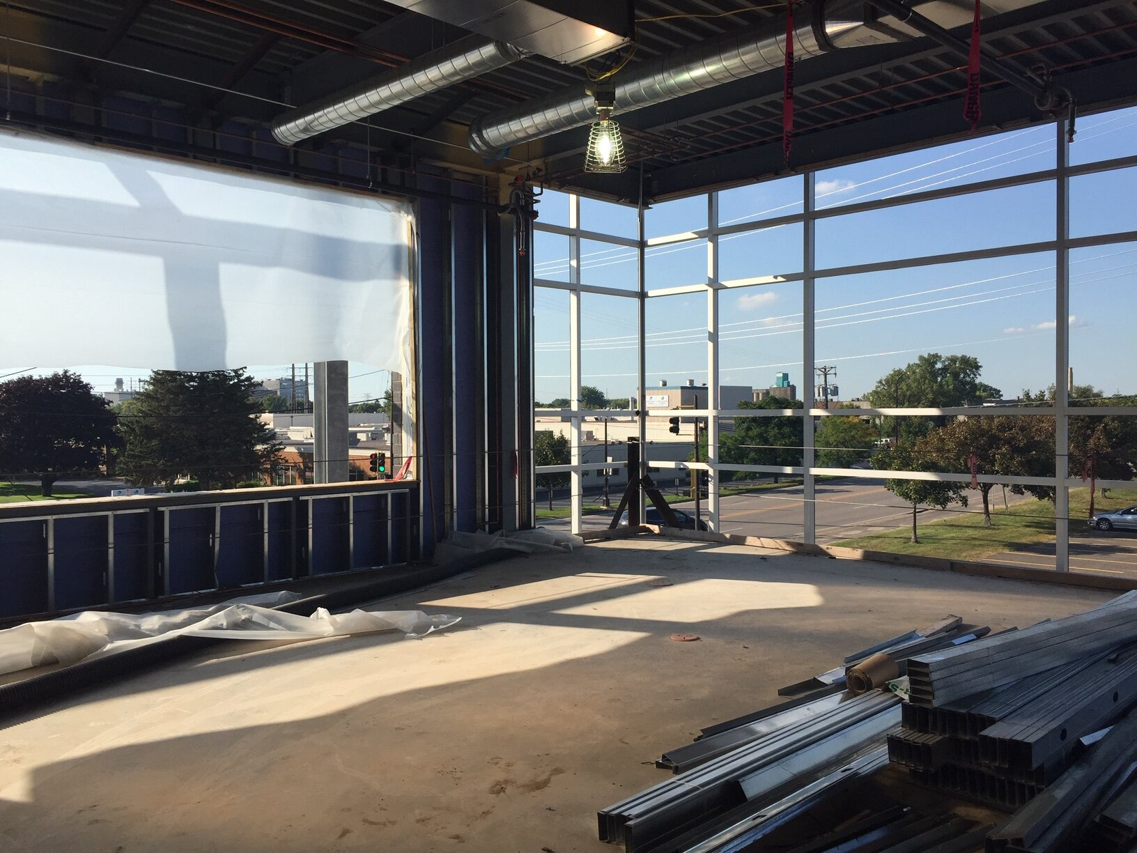 The glass for this office area is not in yet, but we can already feel how open and light the space will be.