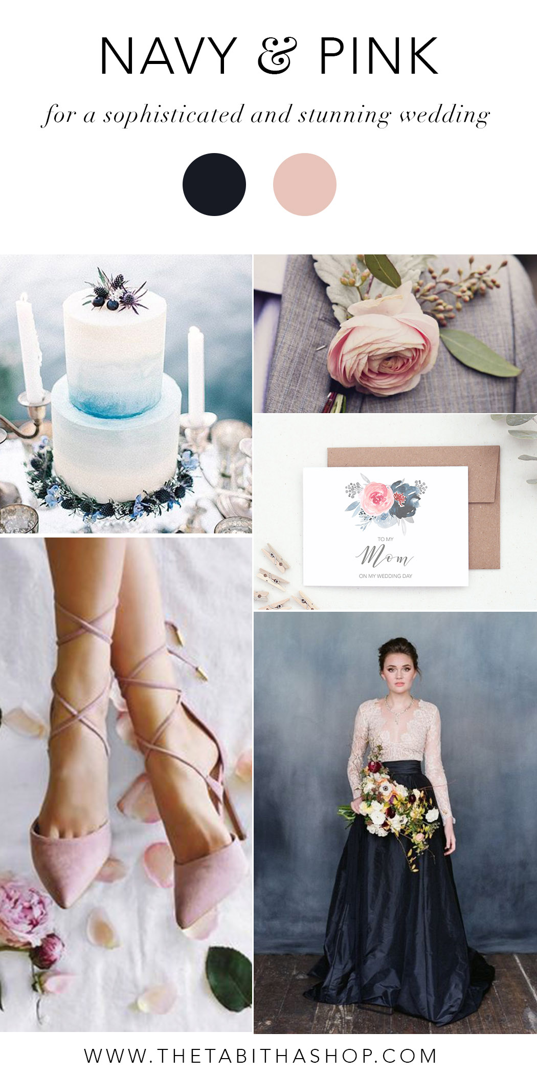 Clockwise, starting top left: via  Brides  // photo by Khaki Bedford via  Style Me Pretty  // To My Mom Card by  The Tabitha Shop  // Heavenly Lace Wedding Dresses via  Aisle Society  // Shoes from  Lulus