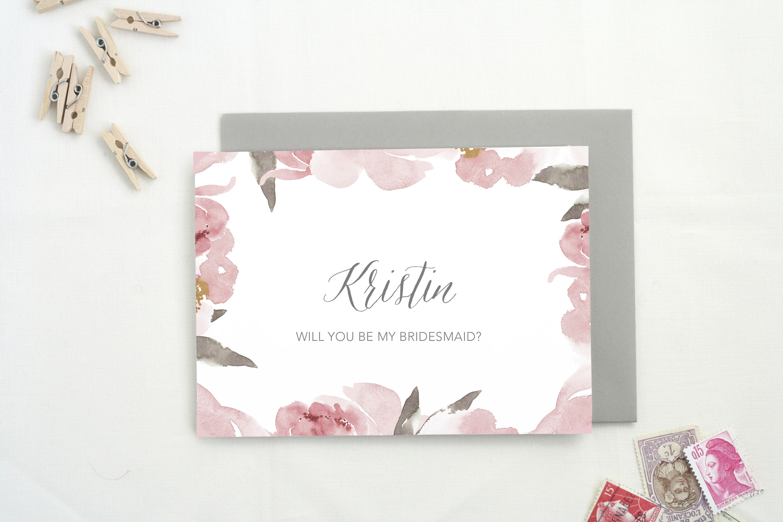 Personalized Bridesmaid Card    by    The Tabitha Shop