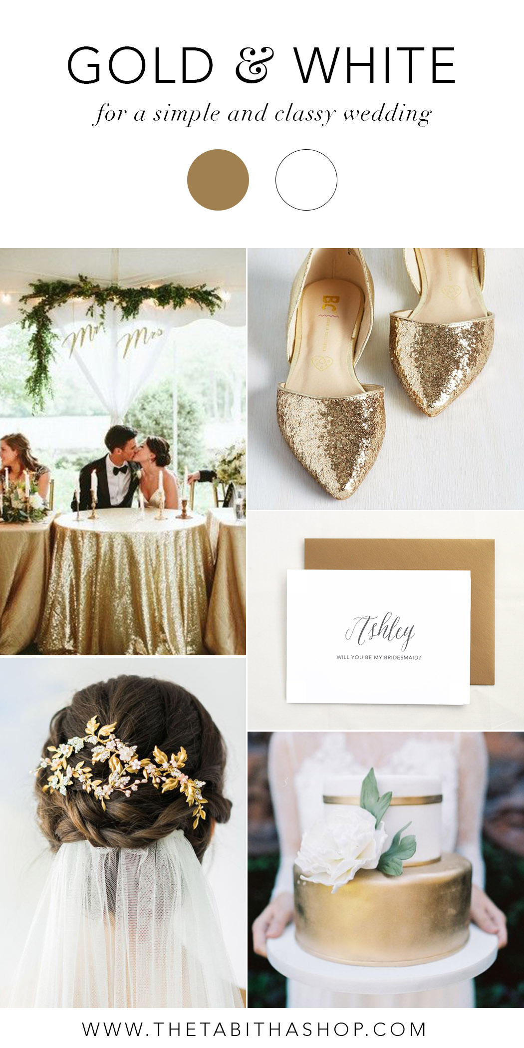 Clockwise, starting top left: Photo by    Kaytee Lauren    via    Ruffled    // Shoes from    Modcloth    //    Bridesmaid card    by    The Tabitha Shop    // Photo by    Andi Mans Weddings    and Cake by    Party Flavors    via    The Every Last Detail    // Photo by    The Wedding Scoop