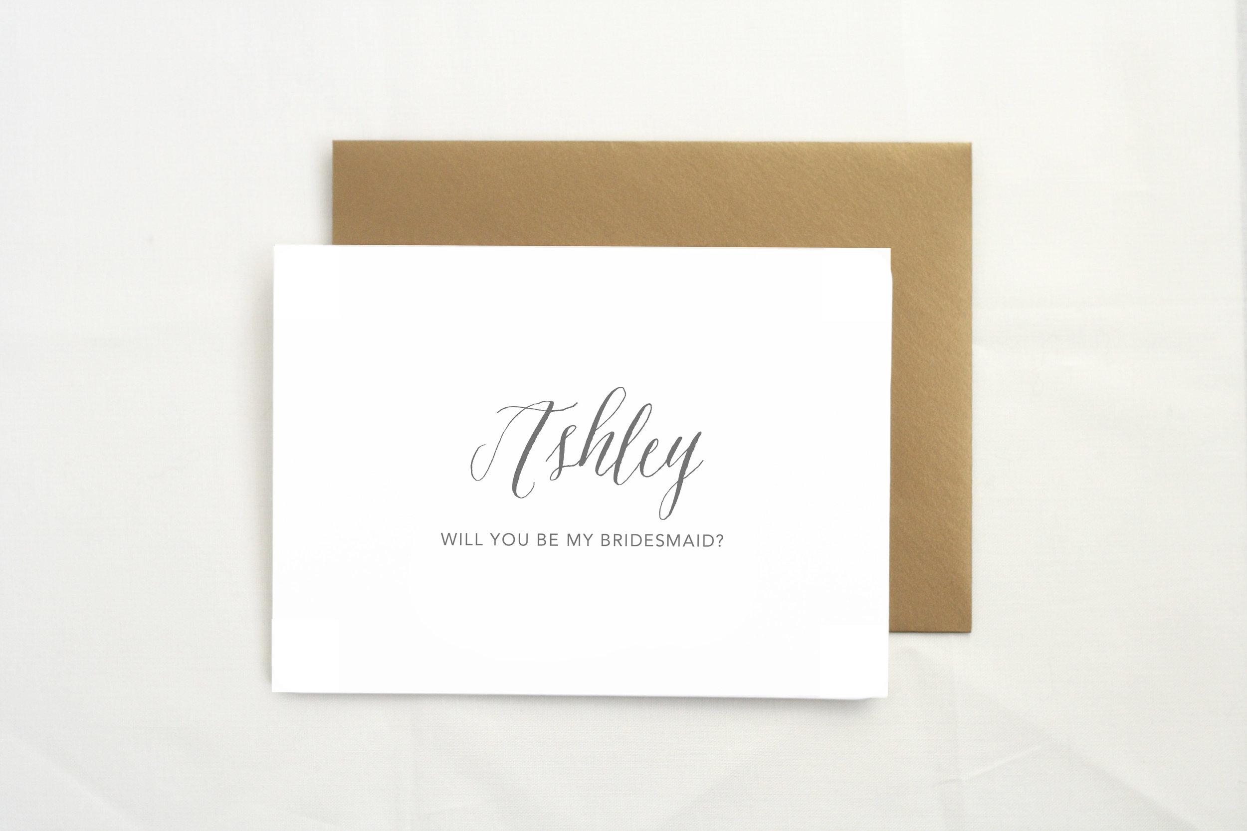 Bridesmaid card    by    The Tabitha Shop
