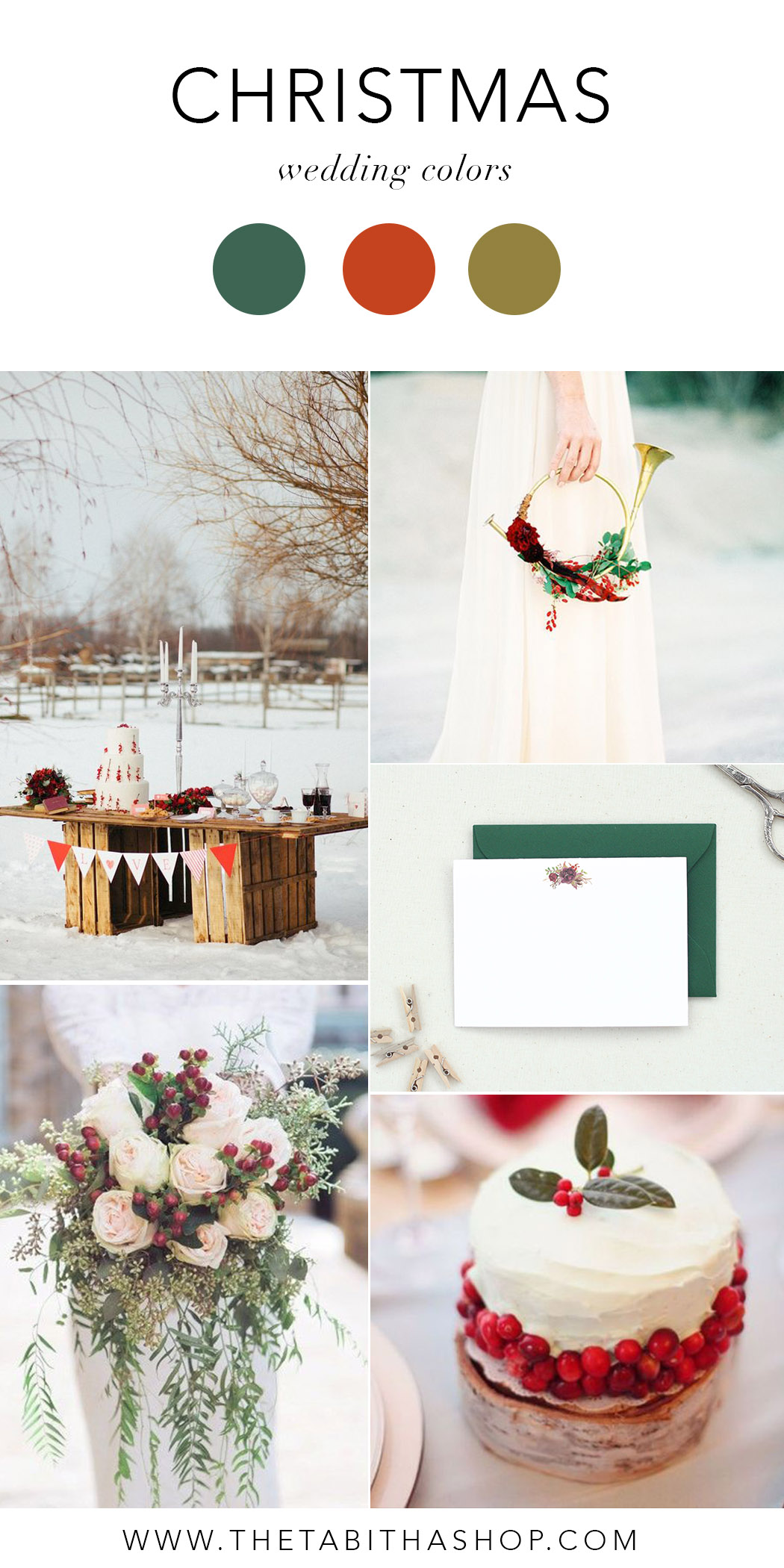 Clockwise, top left: Photo by    Esther & Gabe    via    Chic Vintage Brides    // photo via    Magnolia Rouge    //    Stationery Set    by    The Tabitha Shop    // photo via    Happy Wedd    // Photo by    Sarah Sidwell Photography    via    boho-weddings.com