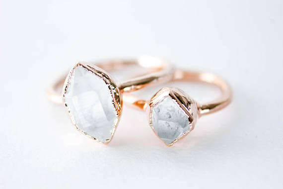 Herkimer Diamond Ring  by The Fox & The Stone