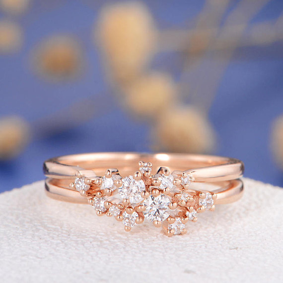 Diamond Cluster Ring  by Love Rings Design