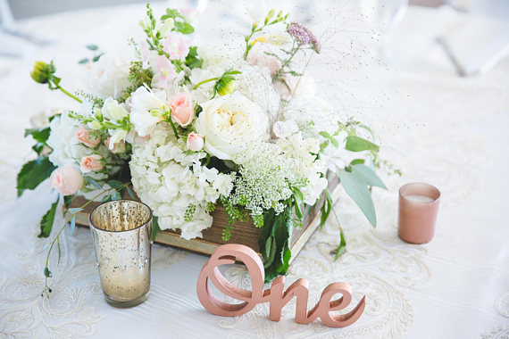 rose gold table number ideas