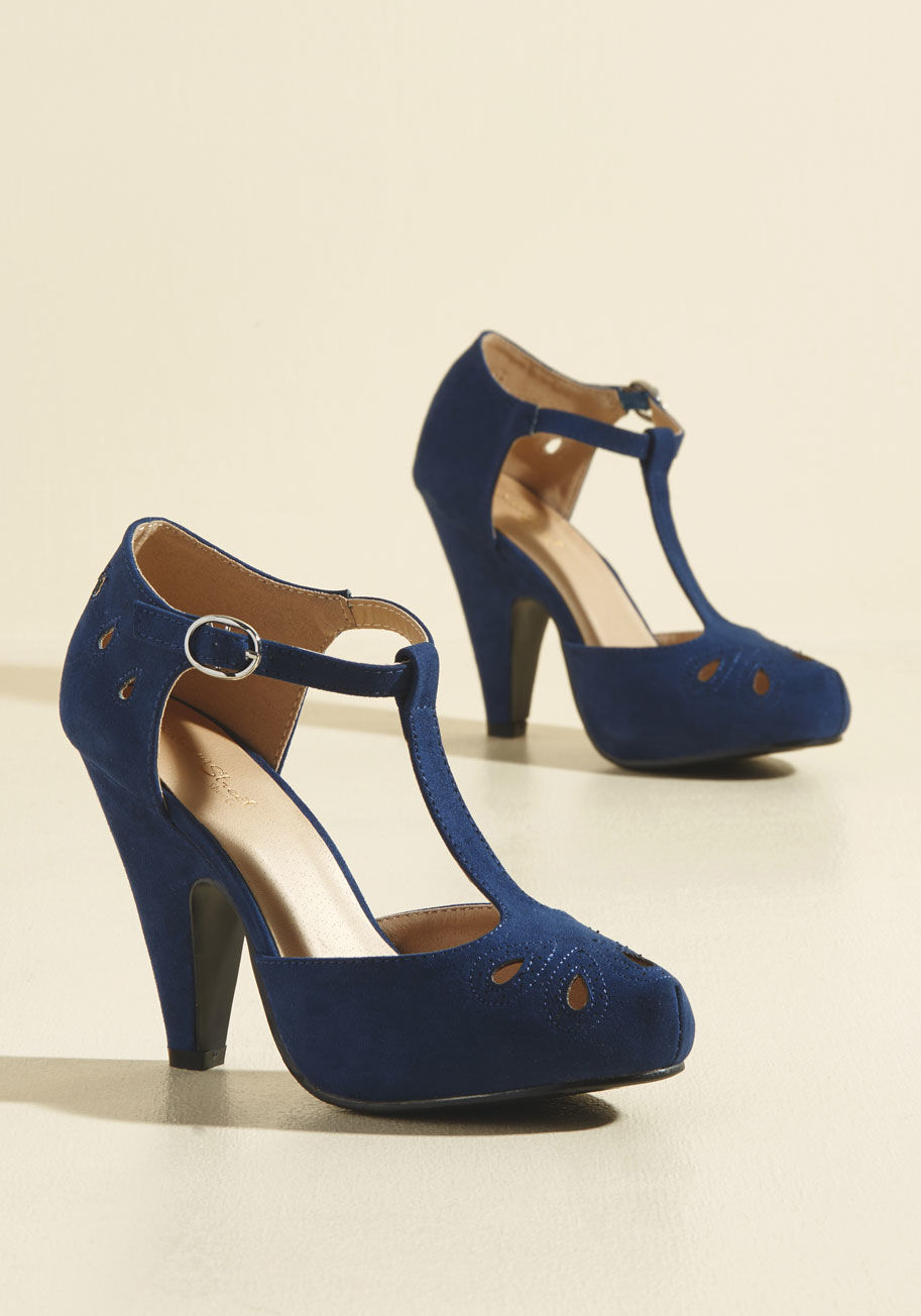 navy blue velvet shoes