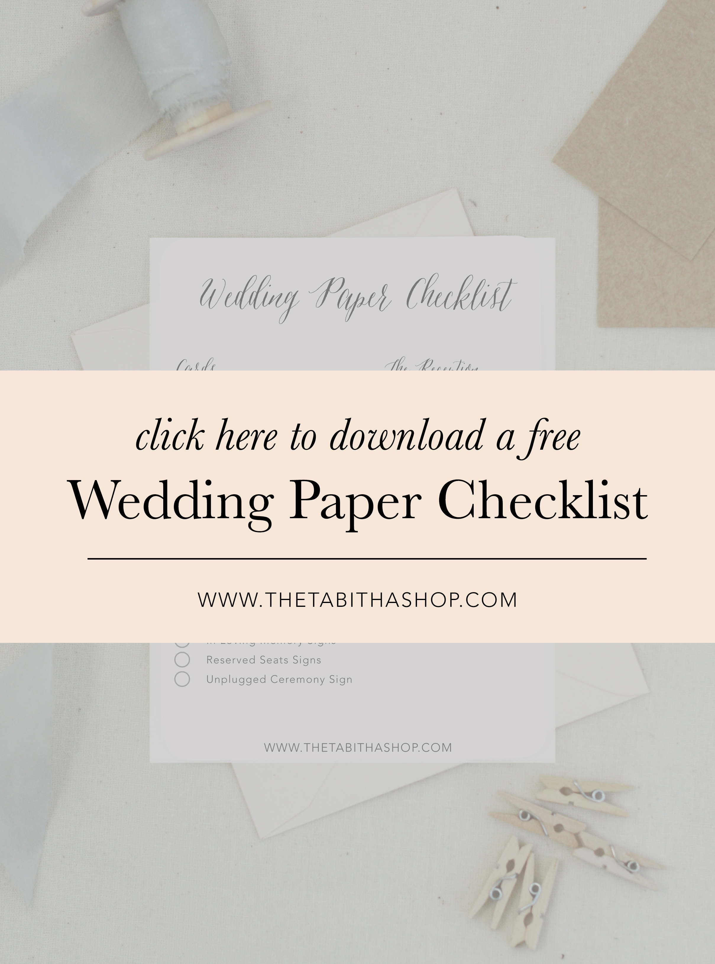stationery checklist